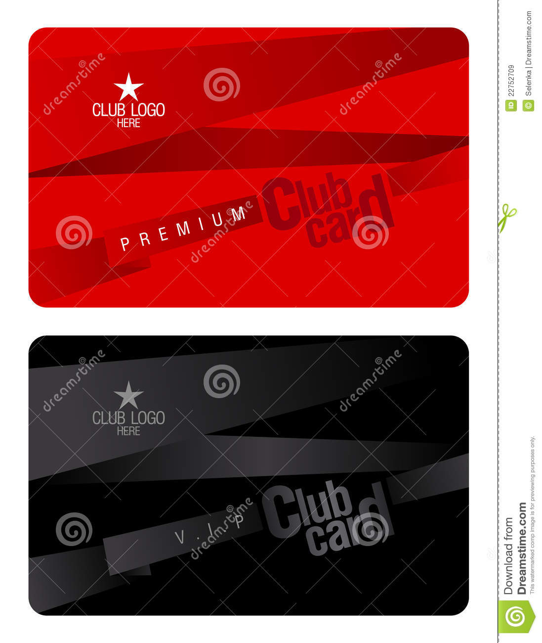 Club Card Design Template Royalty Free Stock Images Image 22752709