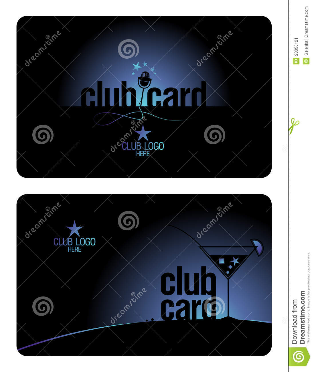 Club Card Design Template.  Membership Cards Templates