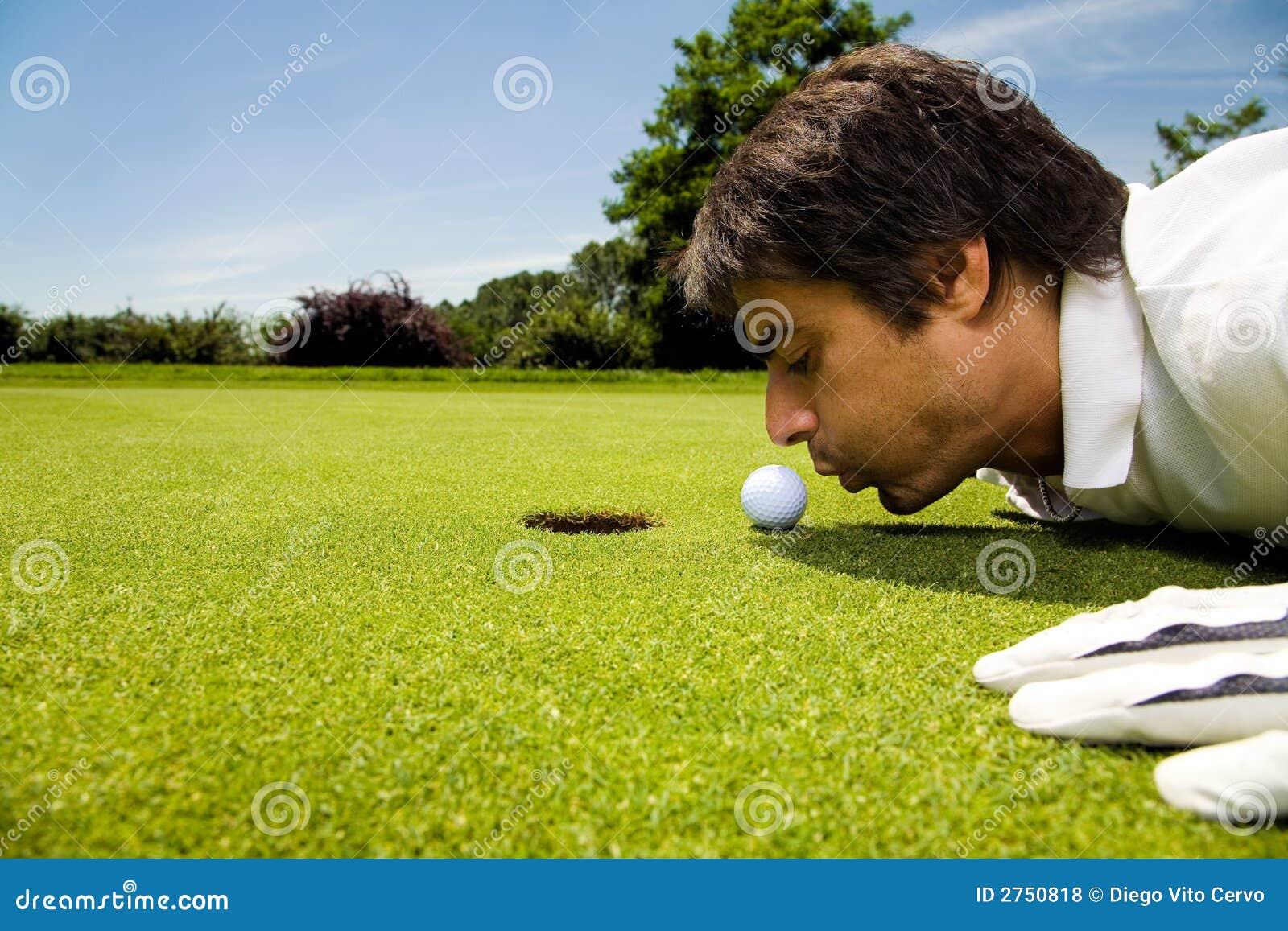 club de golf photo stock image du golfeur caucasien. Black Bedroom Furniture Sets. Home Design Ideas
