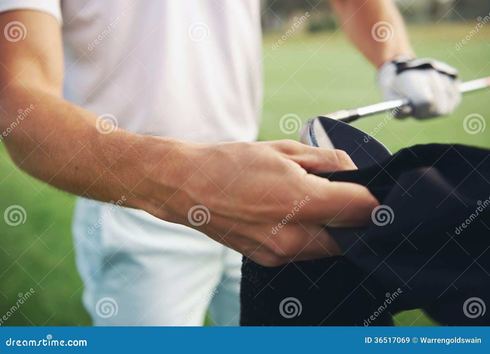 Club de golf de nettoyage