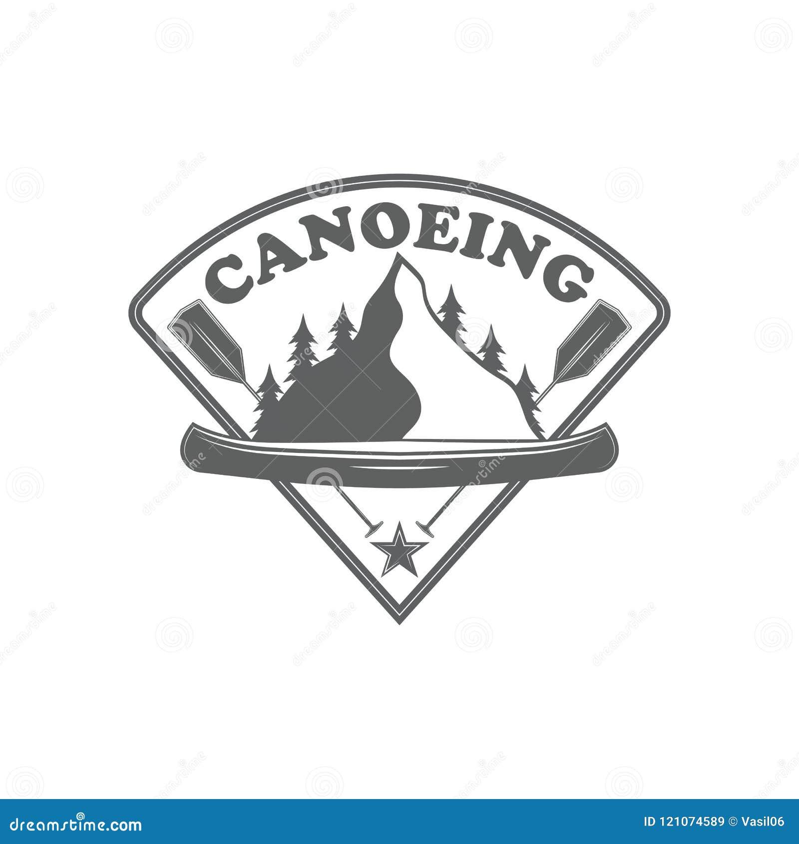 Club della canoa dell emblema