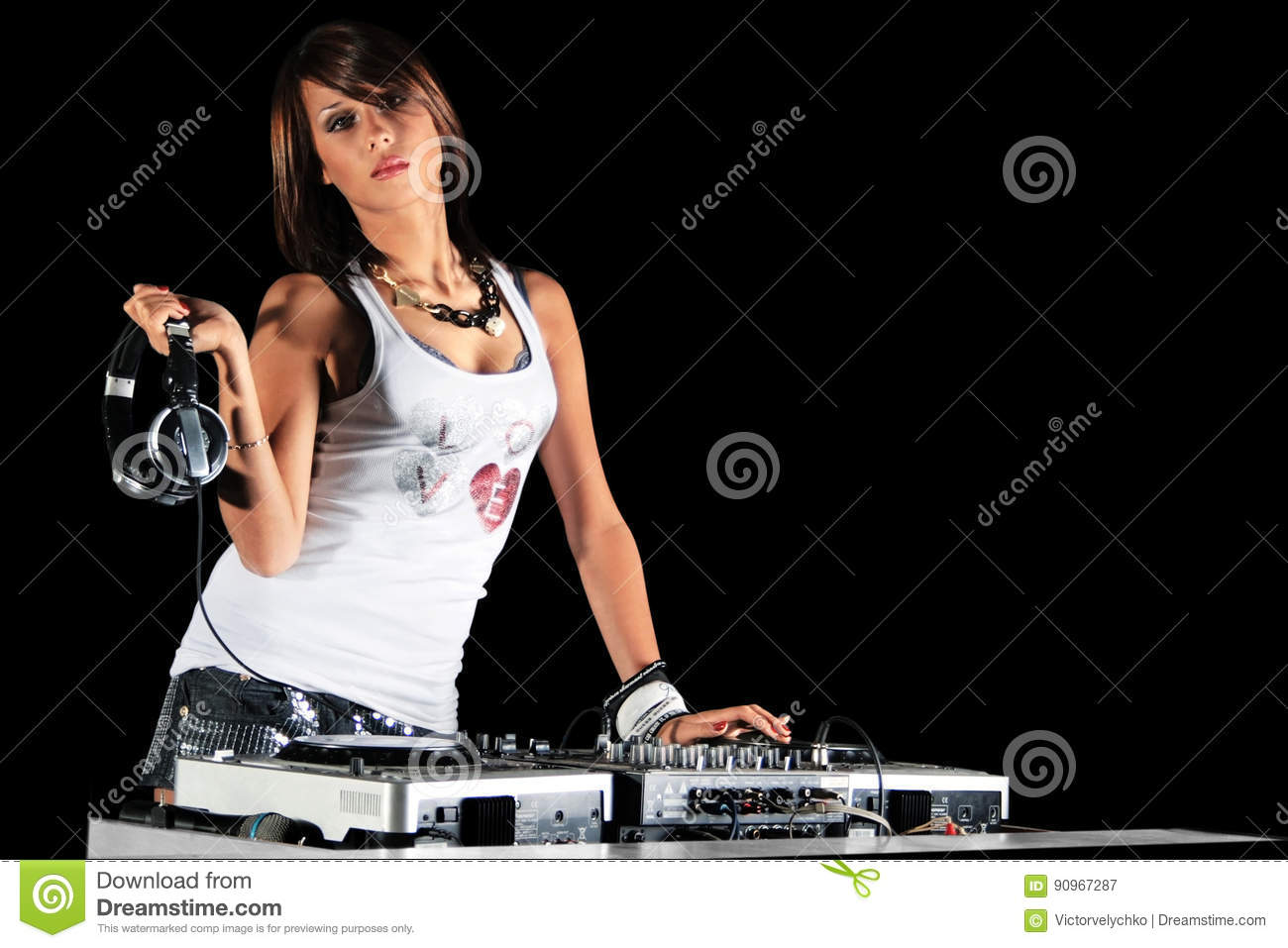 Club dj royalty free stock photo 90967287 for House music girls