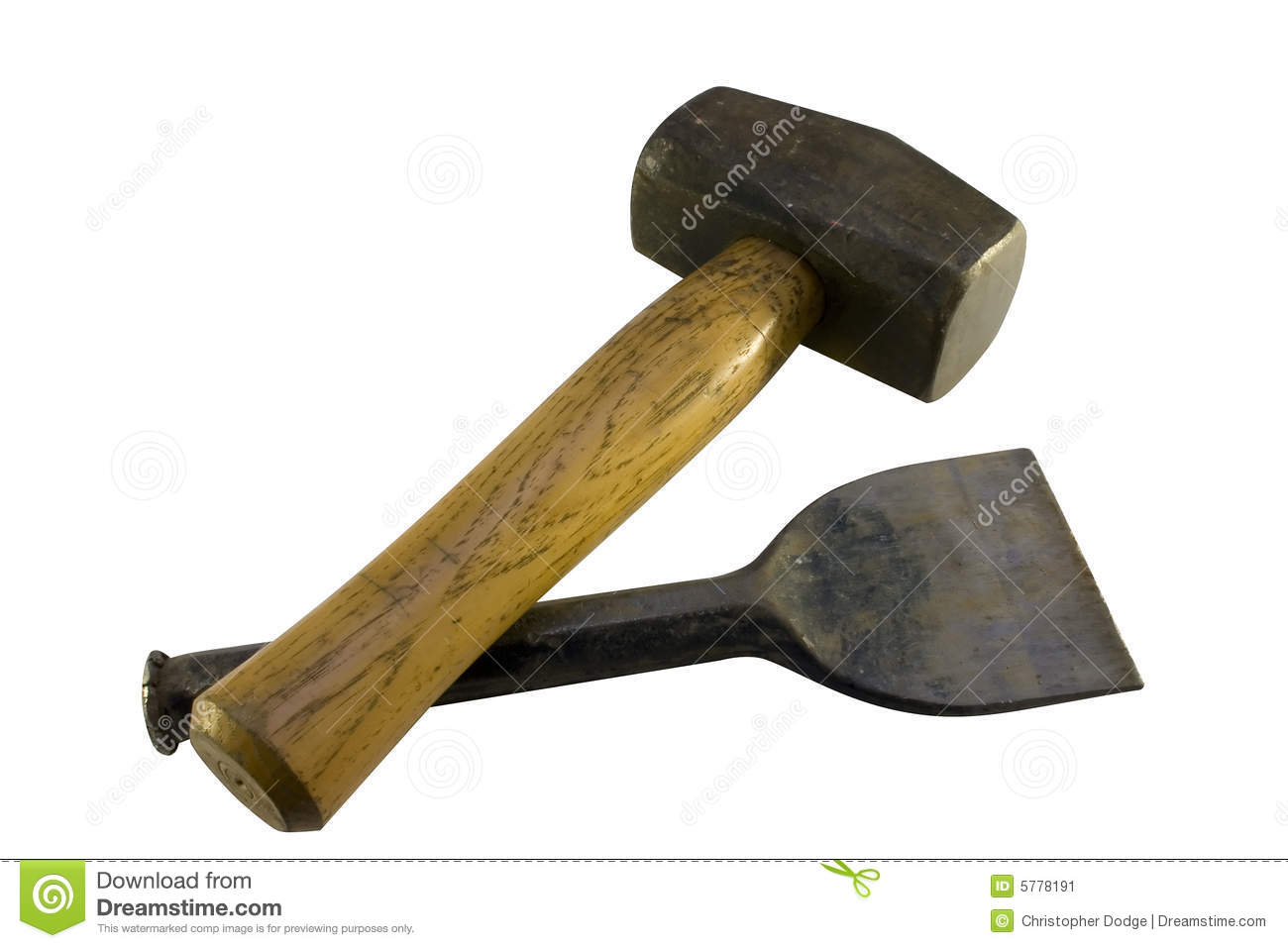 Club Hammer And Bolster Stock Image - Image: 5778191