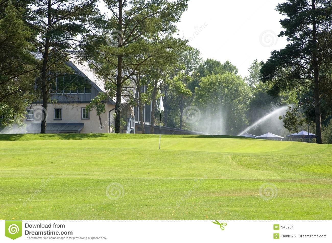 Golf course and club house royalty free stock image for House plans for golf course lots