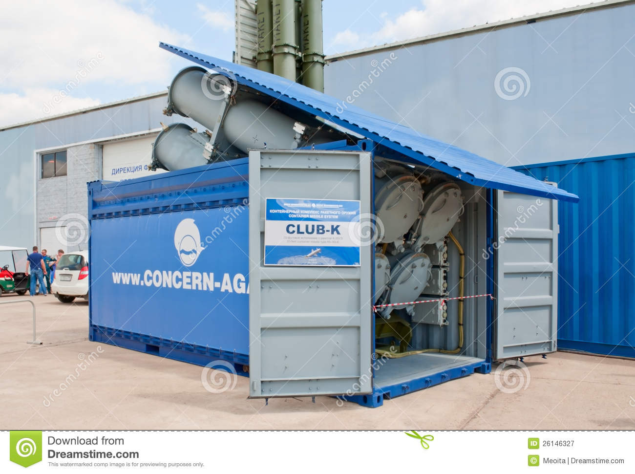 Club k container missile system editorial photography for Surface container
