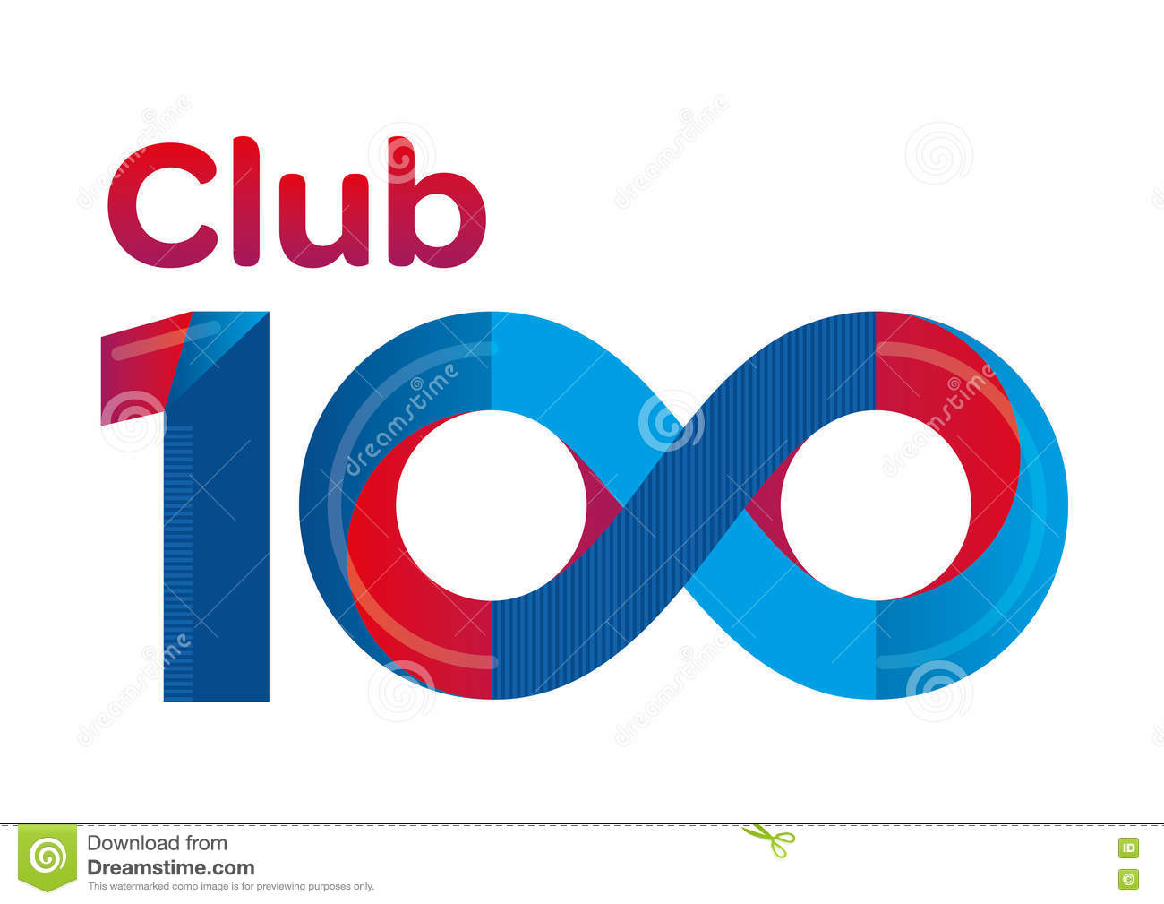 Club 100 logo typography stock illustration illustration of symbol club 100 logo typography buycottarizona Image collections