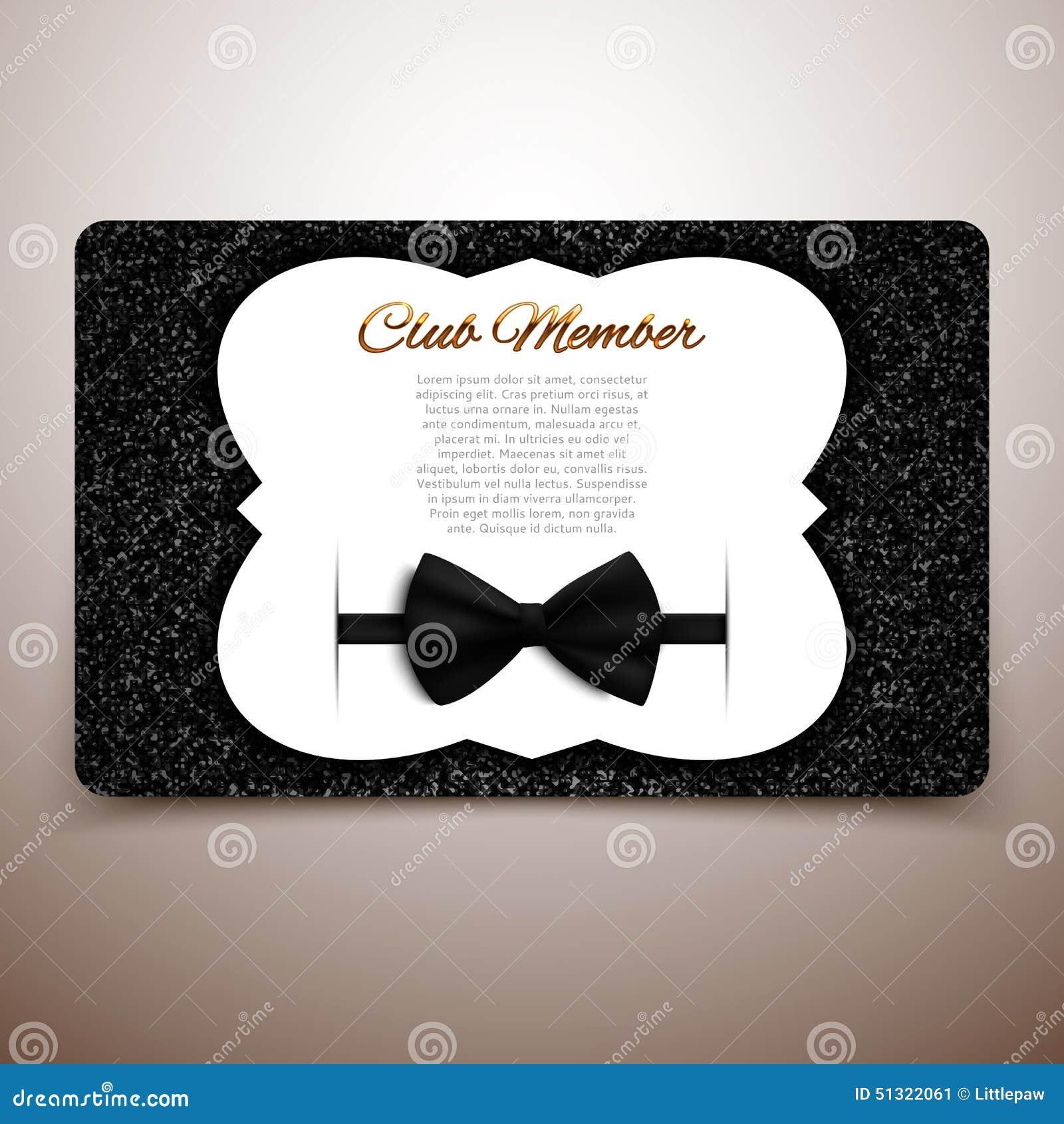 Club Member Vector Card, Gentlemen Club, Vip Card, Black ...