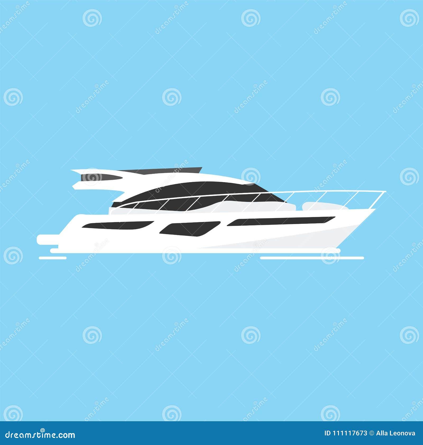 Club náutico y deporte de la navegación Viaje por mar Ilustración del vector