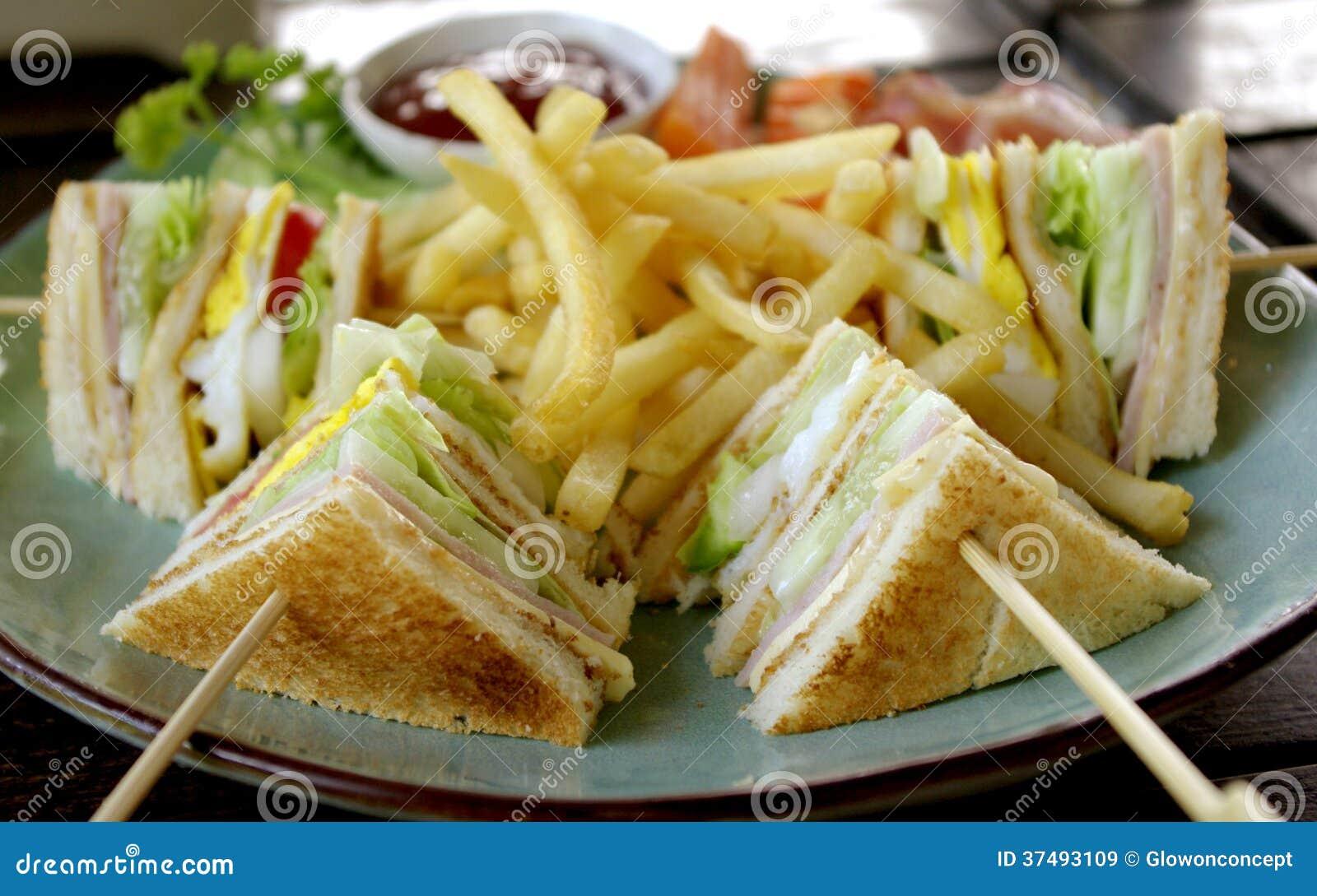 Club sandwich for breakfast