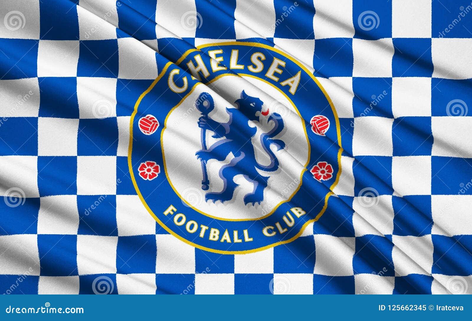 67634229e1239 Clube Chelsea Do Futebol De Bandeira Imagem Editorial - Ilustração ...