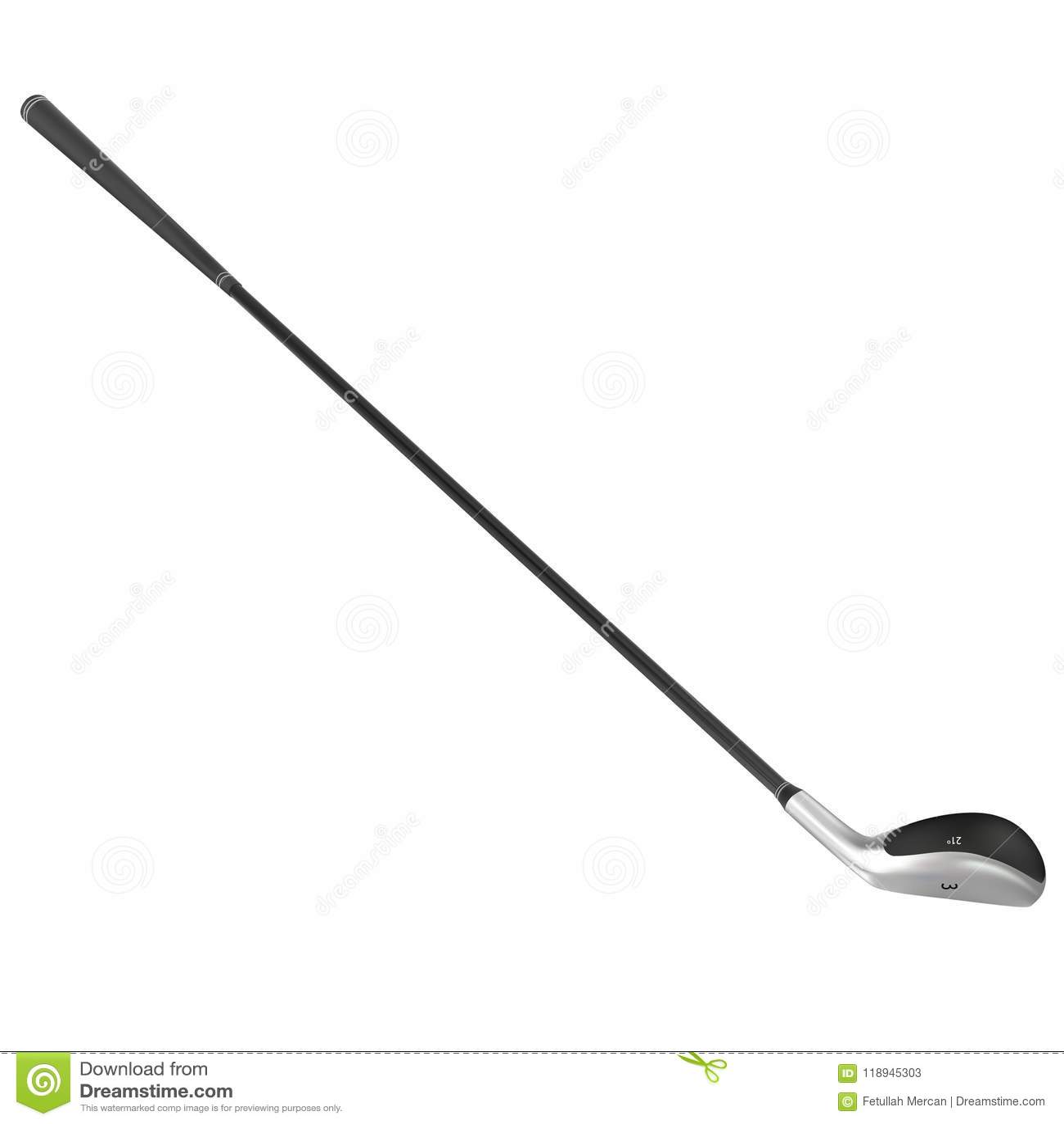 Clube de golfe realístico do vetor