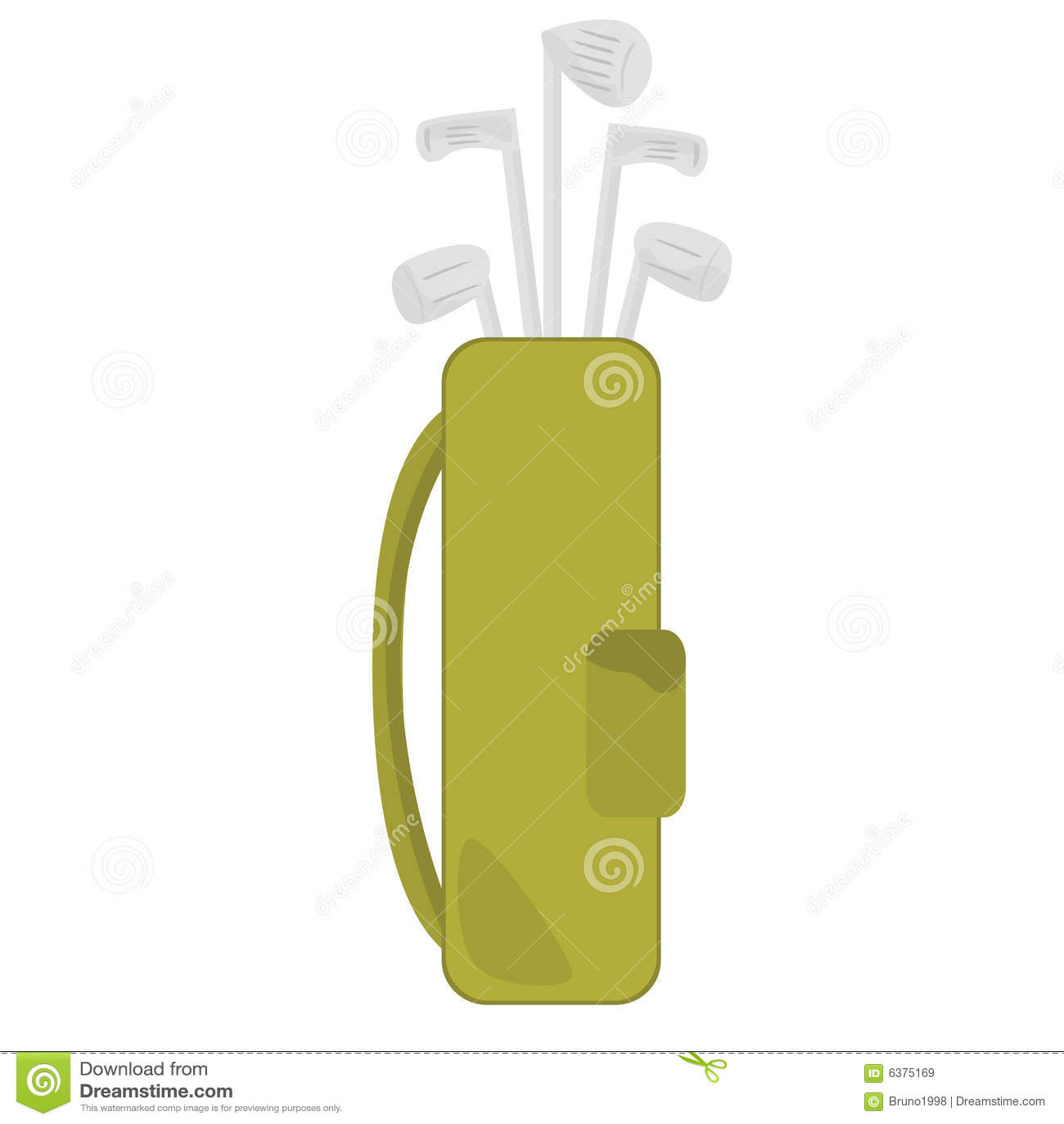 Clubes e saco de golfe
