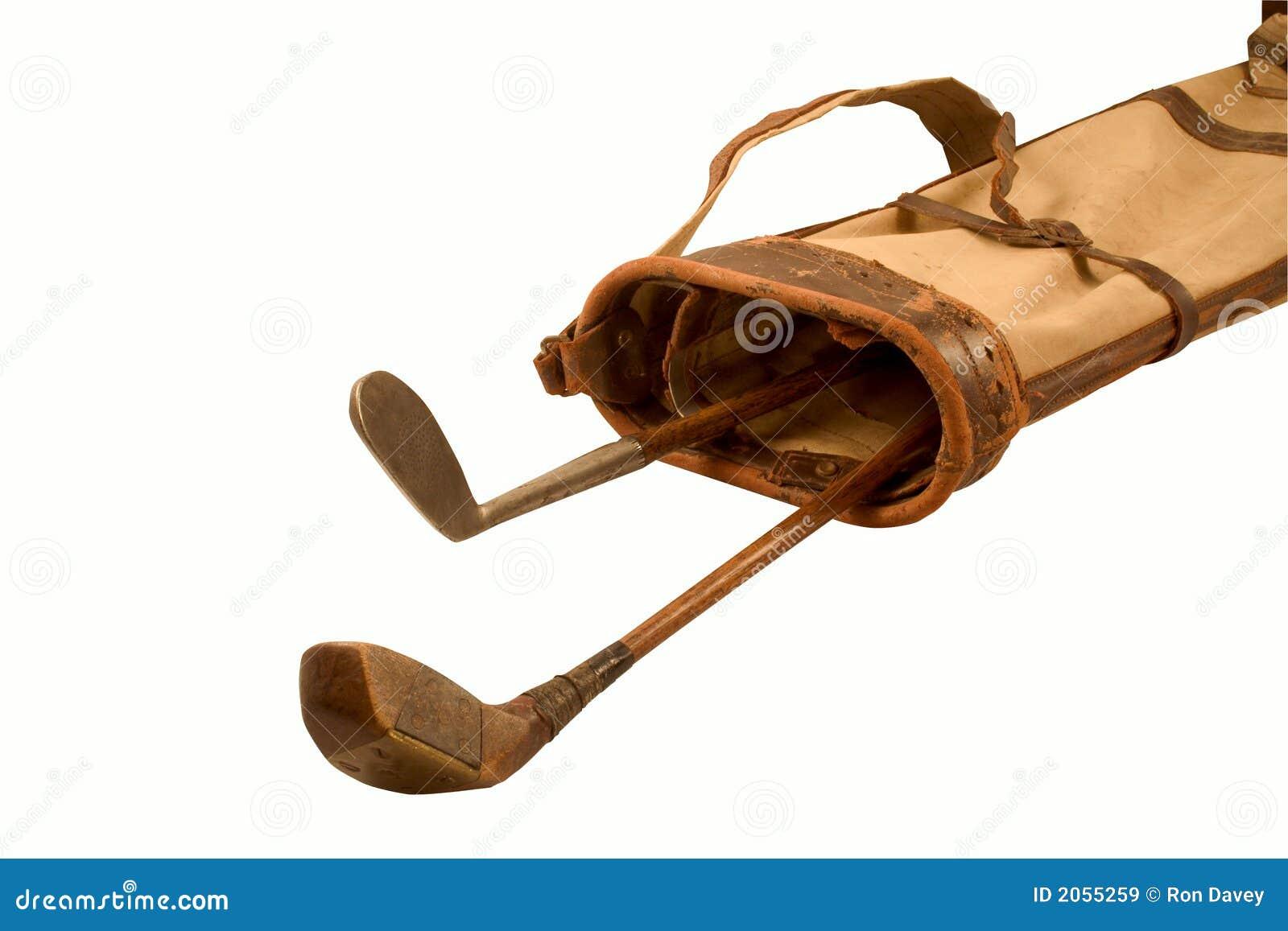 clubs de golf antiques image stock image du golf brun. Black Bedroom Furniture Sets. Home Design Ideas