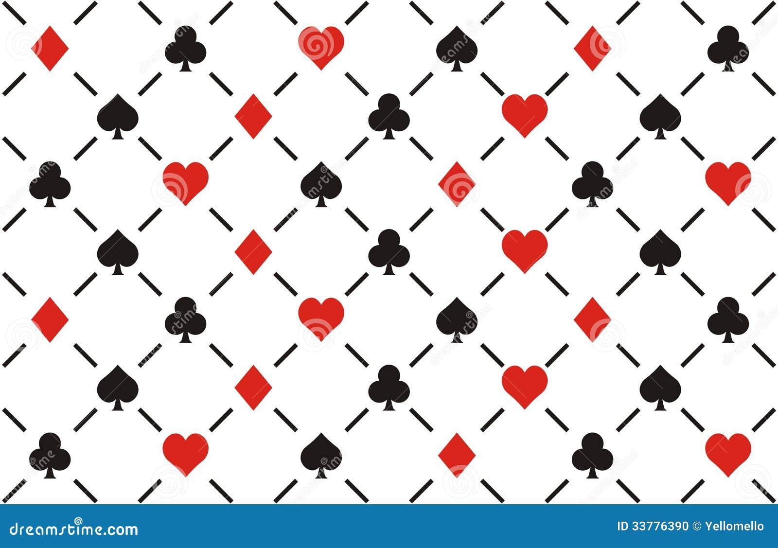 clubs diamonds hearts and spades seamless patt stock vector