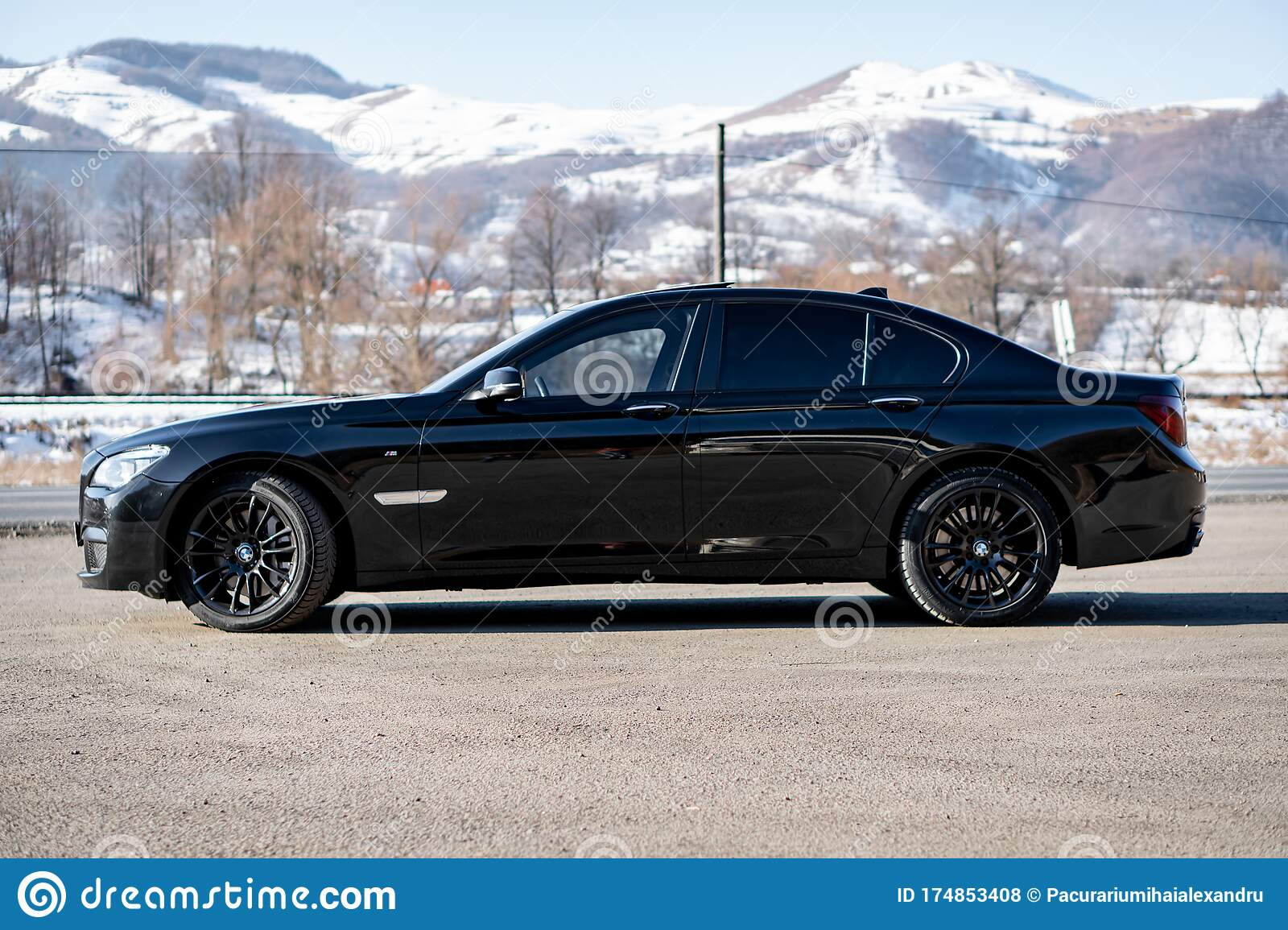 Bmw 7 Series Matte Black M Trim Sport Edition Editorial Stock Photo Image Of Inch Individual 174853408