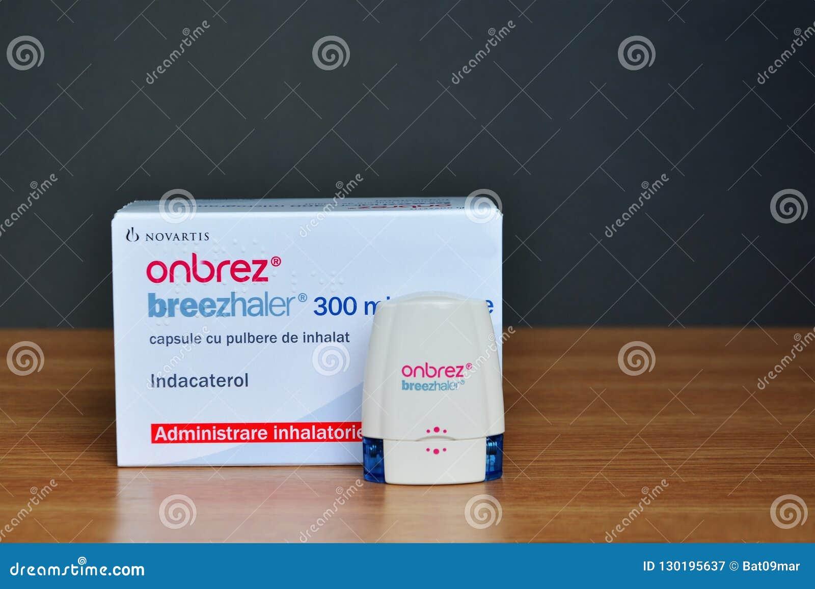 Onbrez Breezhaler Indacaterol Inhaler Device And Box Editorial