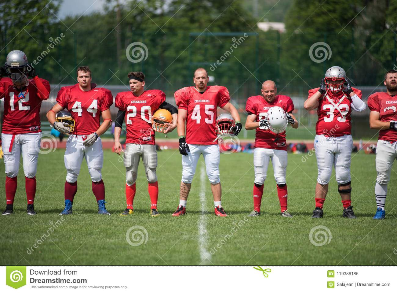 American Football Players In Action Editorial Photo - Image