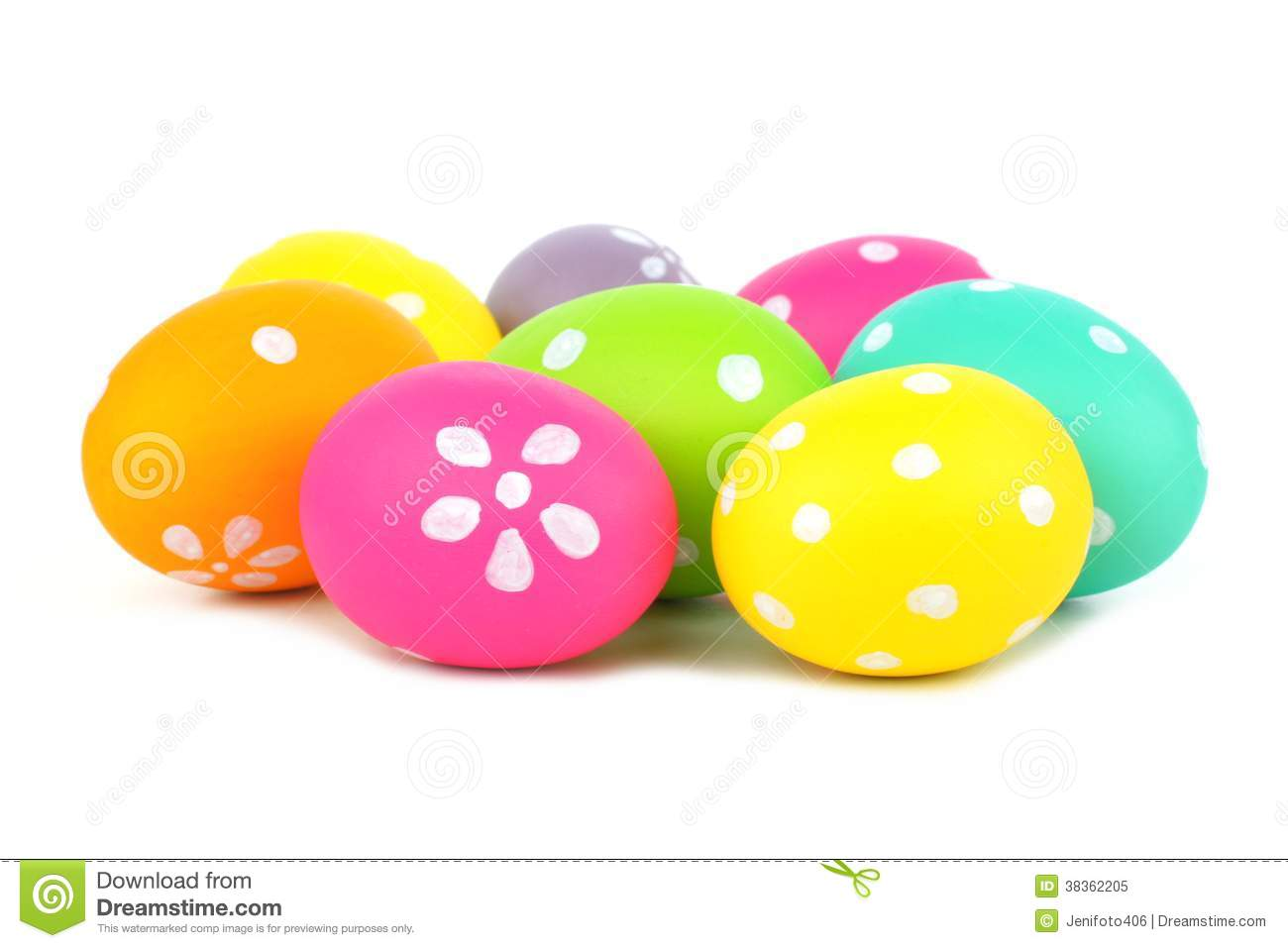Cluster Of Easter Eggs Royalty Free Stock Photo - Image