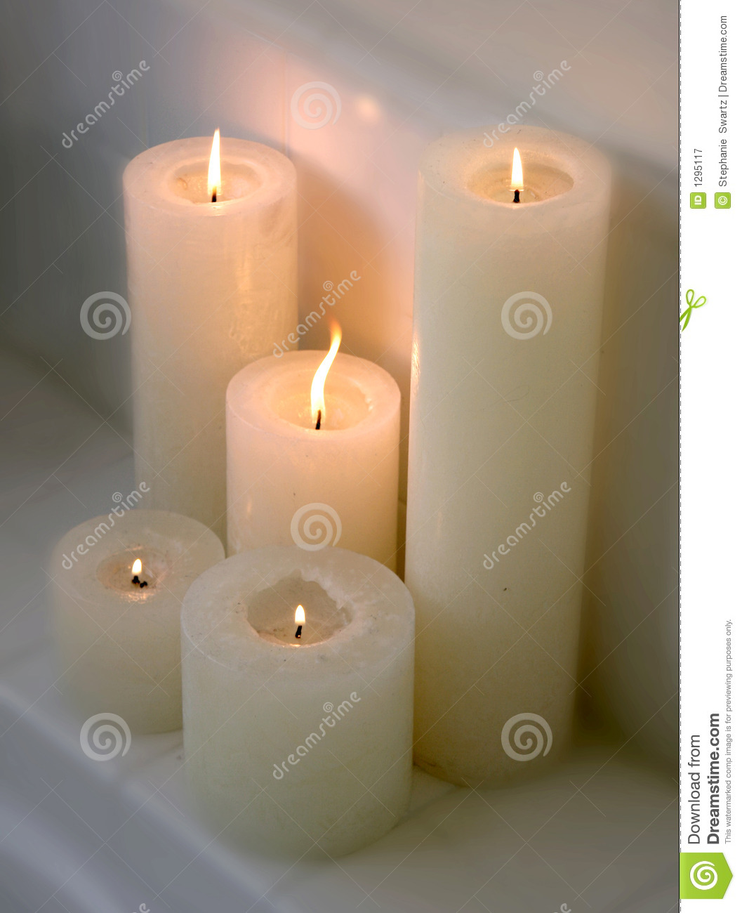 Cluster Of Lit Candles On A Ledge Royalty Free Stock Photography ...