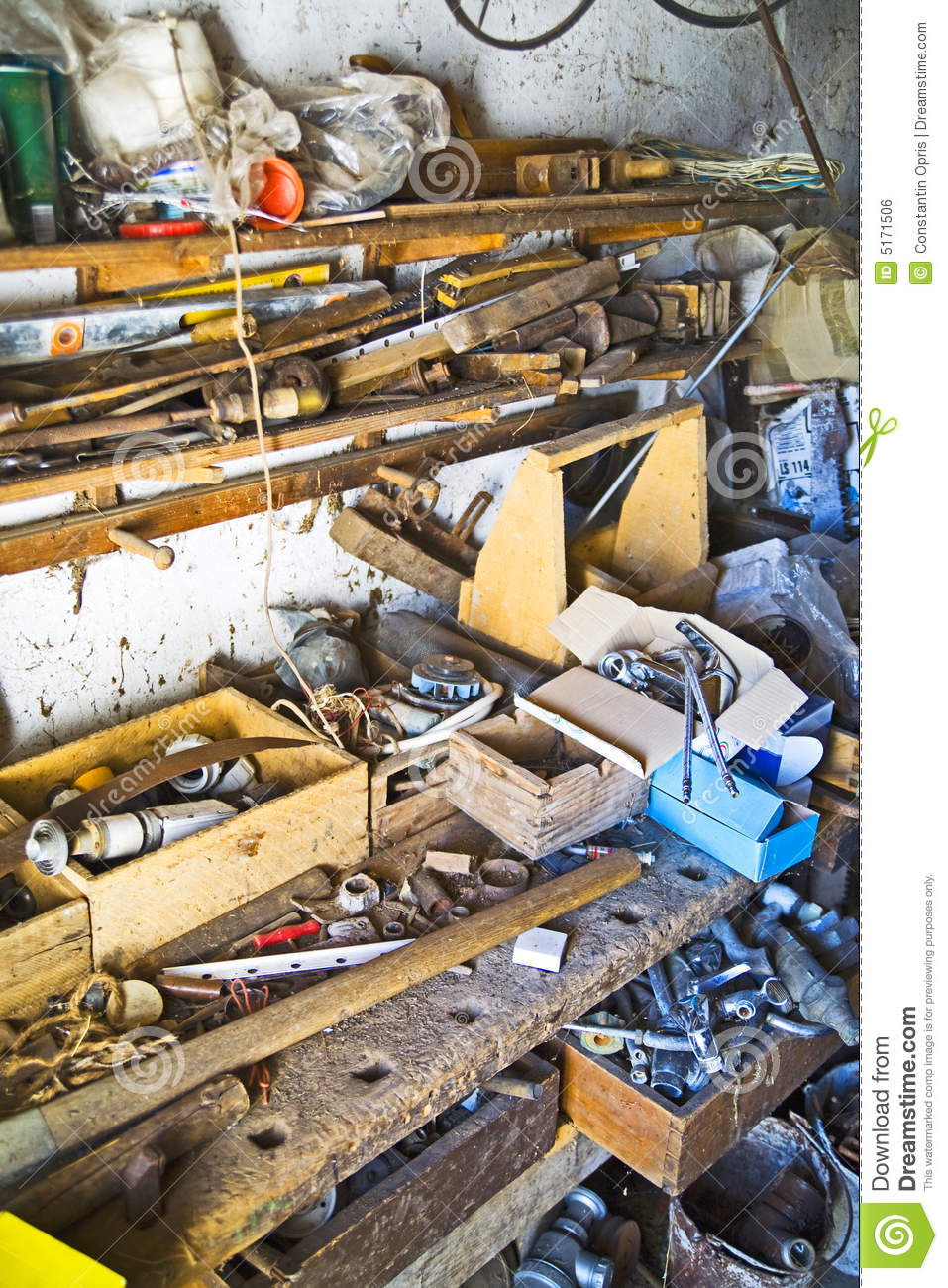 Free Room Design Tool: Cluttered Junk Room Royalty Free Stock Image