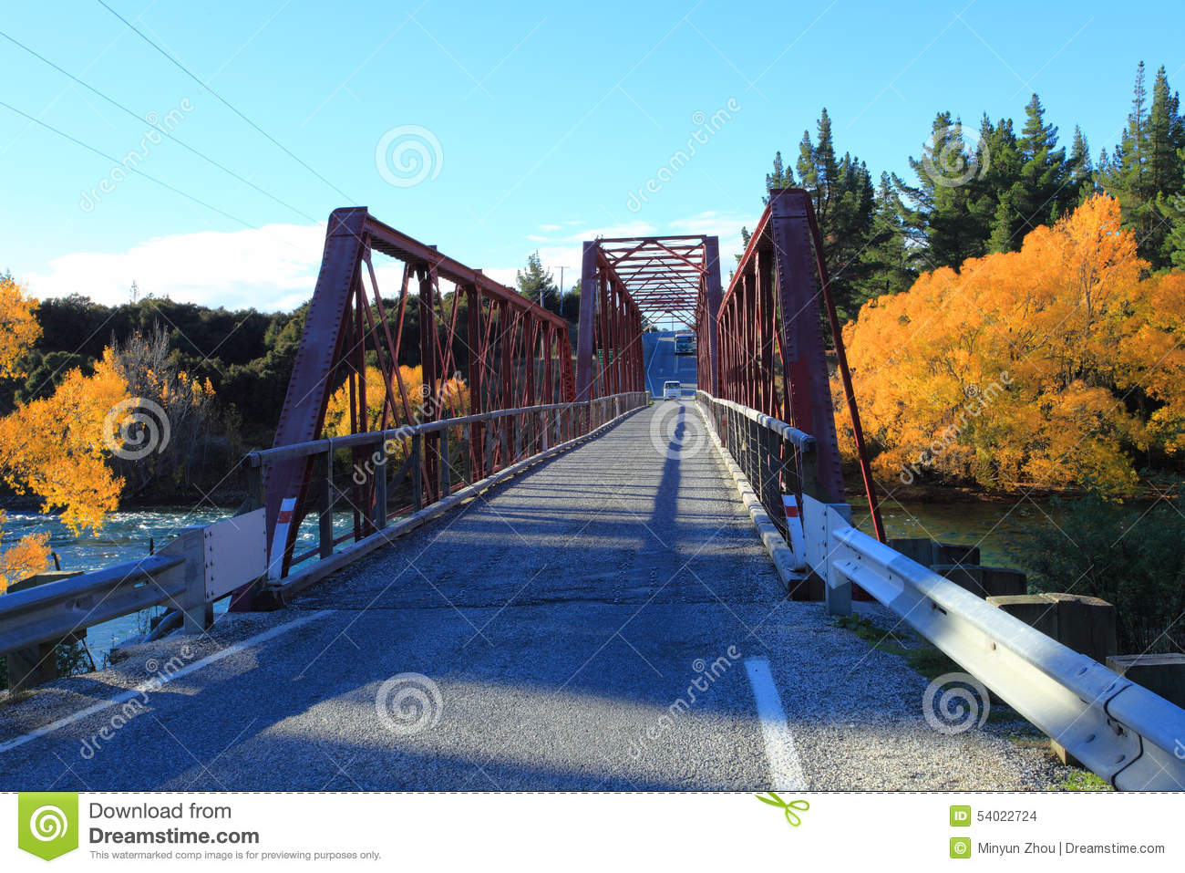 Clyde New Zealand  city pictures gallery : Clyde Bridge On The Clutha River,South Island New Zealand. Stock Photo ...