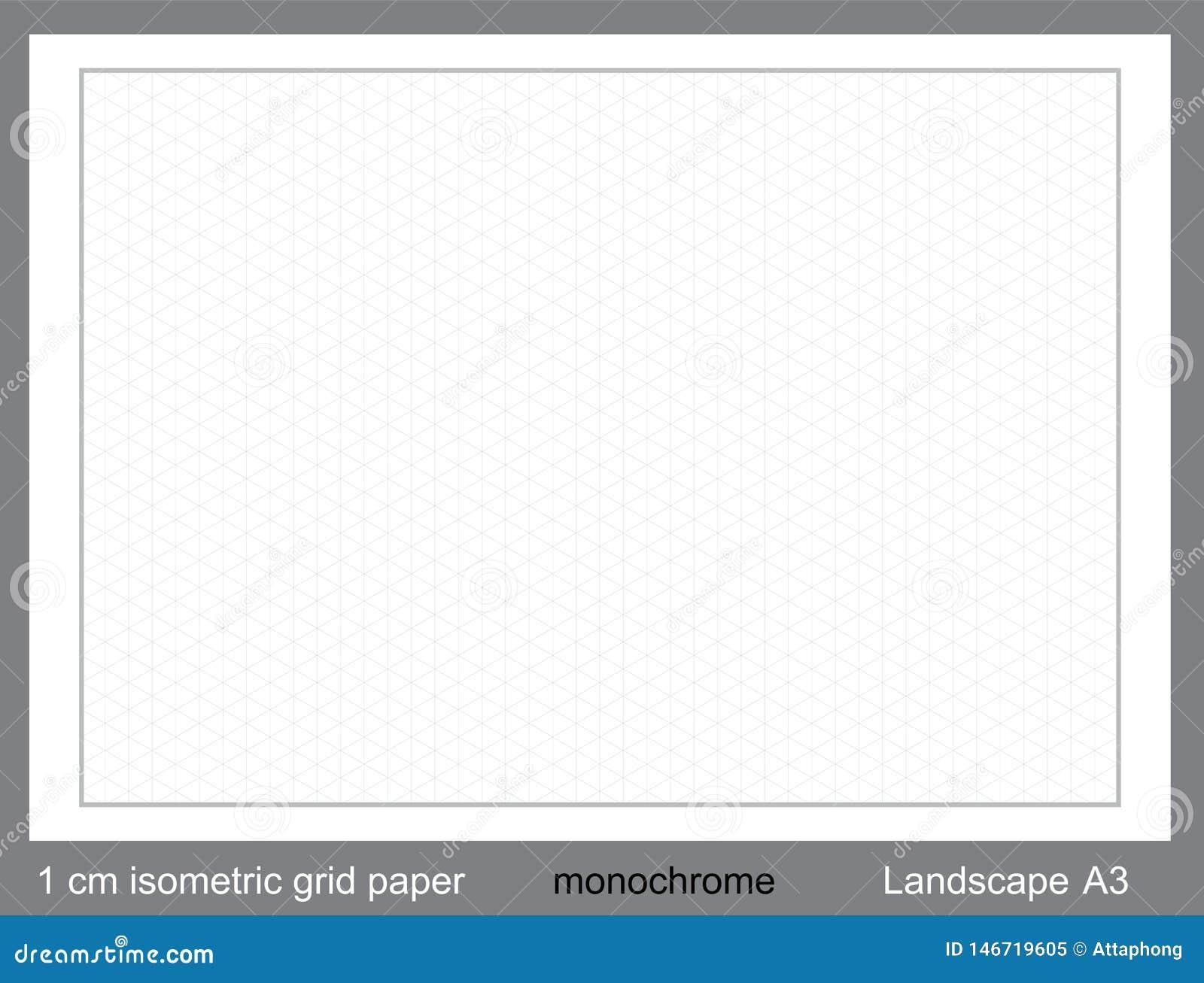 1 cm a3 isometric grid paper isometric grid vector