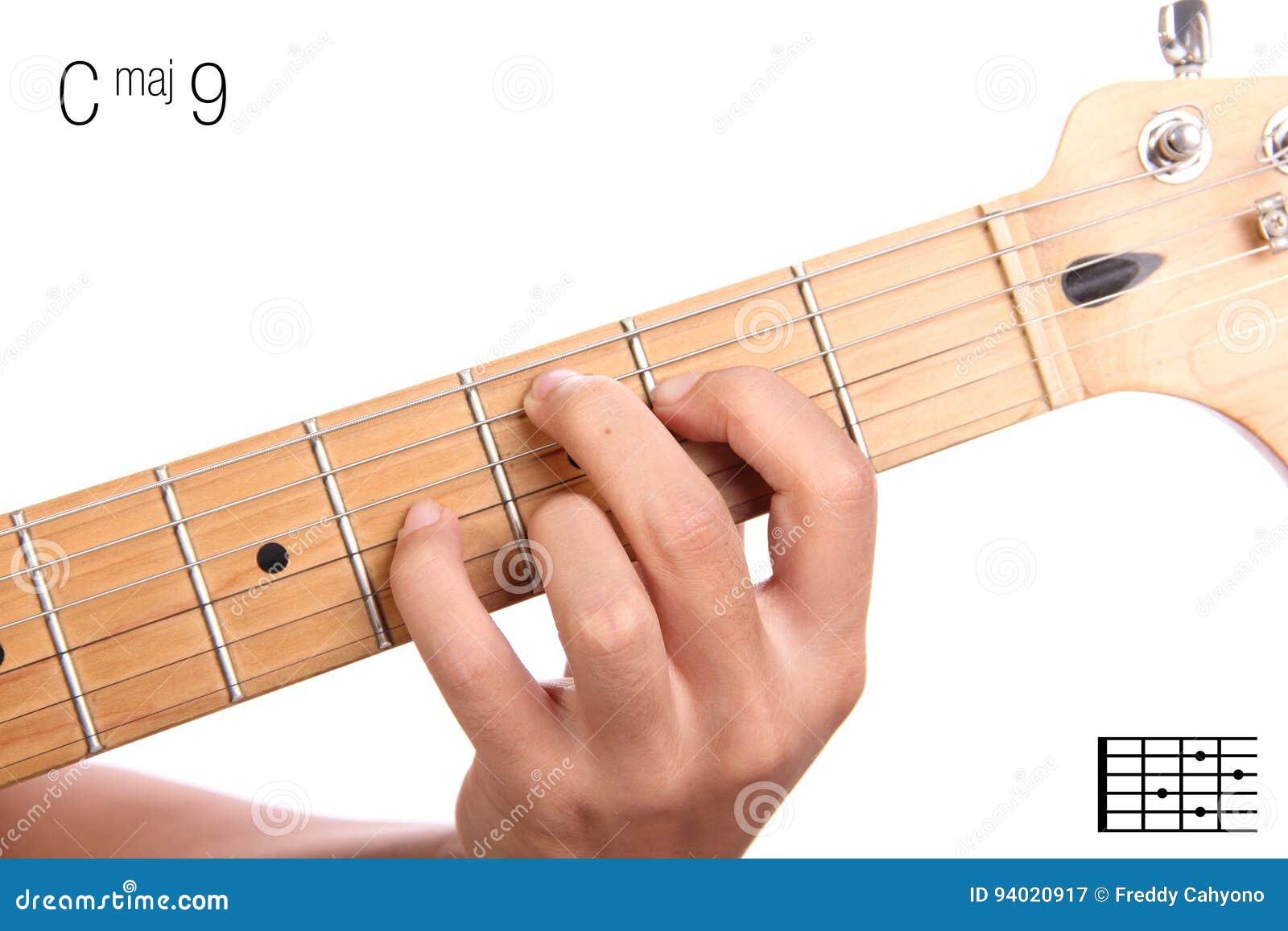 Cmaj9 Guitar Chord Tutorial Stock Image Image Of Music Cmaj7