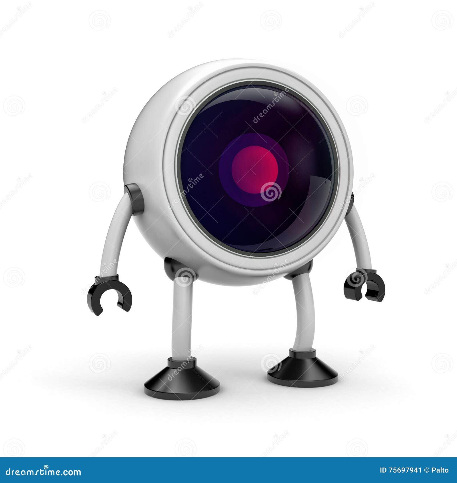 C mara cctv de la seguridad del robot stock de ilustraci n - Camara de seguridad ...