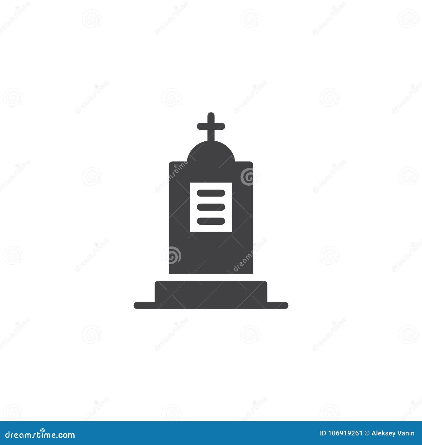 Cmentarniany ikona wektor