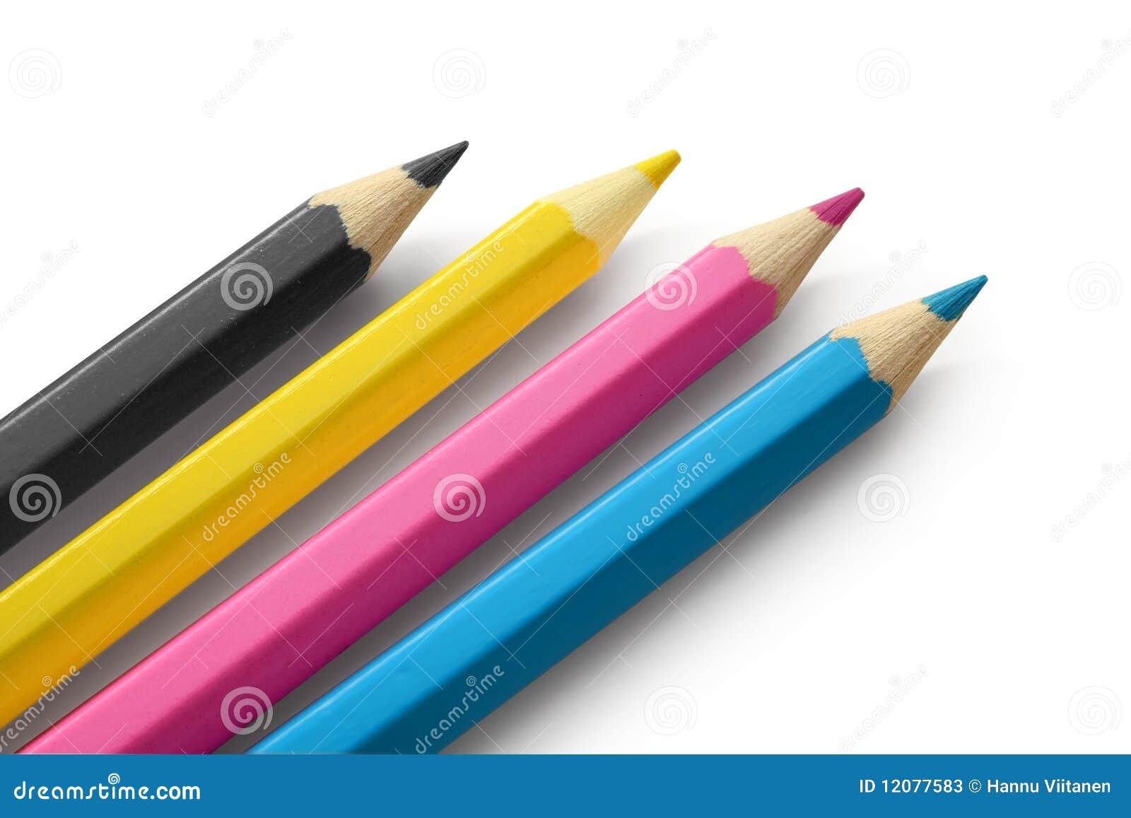 Cmyk上色铅笔