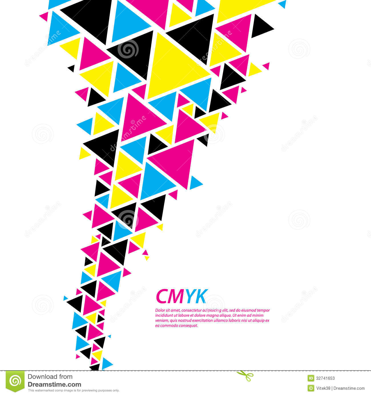 Cmyk Color Profile Abstract Triangle Flow Twister In