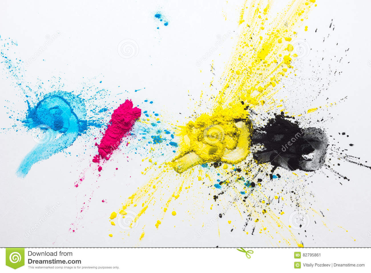 CMYK colour toner for printer cyan magenta yellow