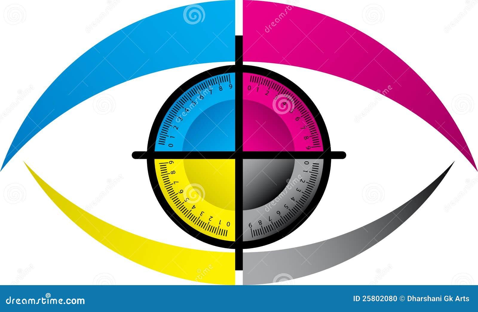 Cmyk Eye Logo Stock Photo Image 25802080