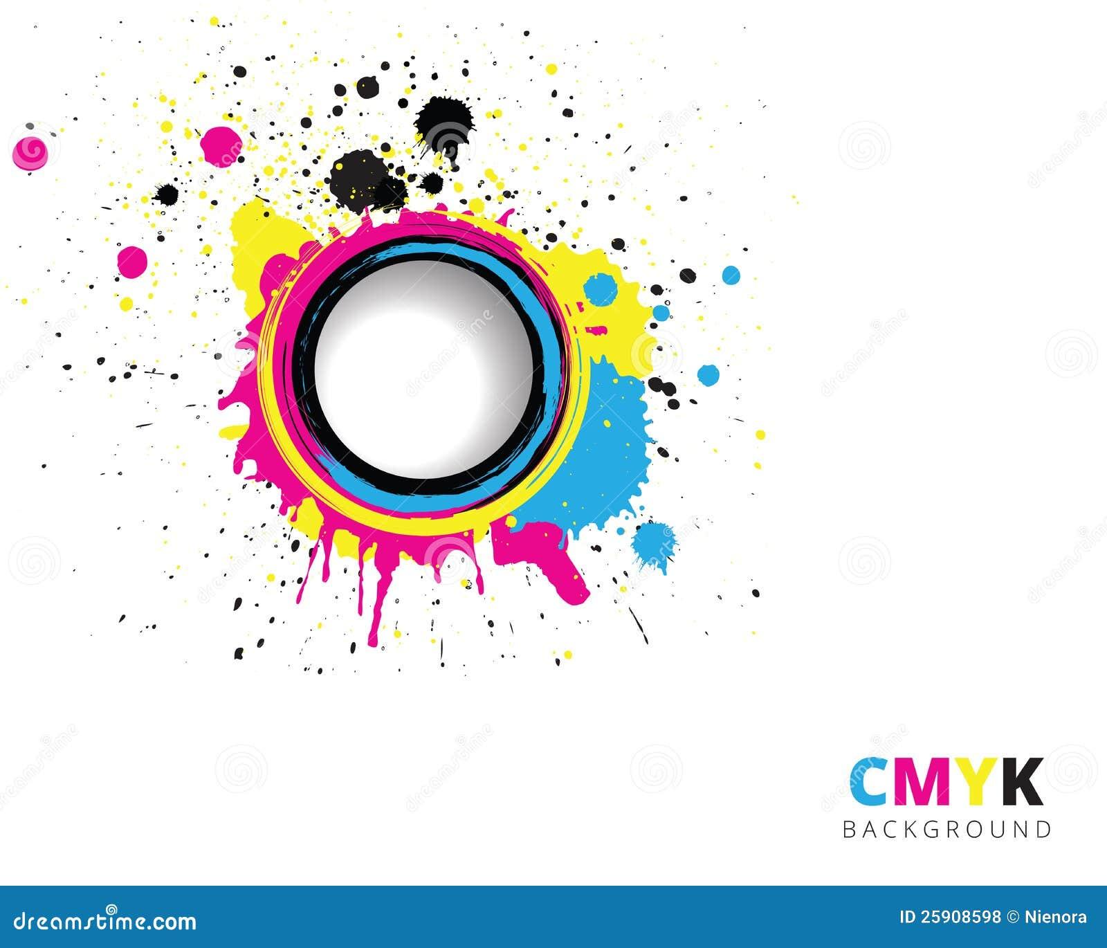CMYK-färgstänkbakgrund