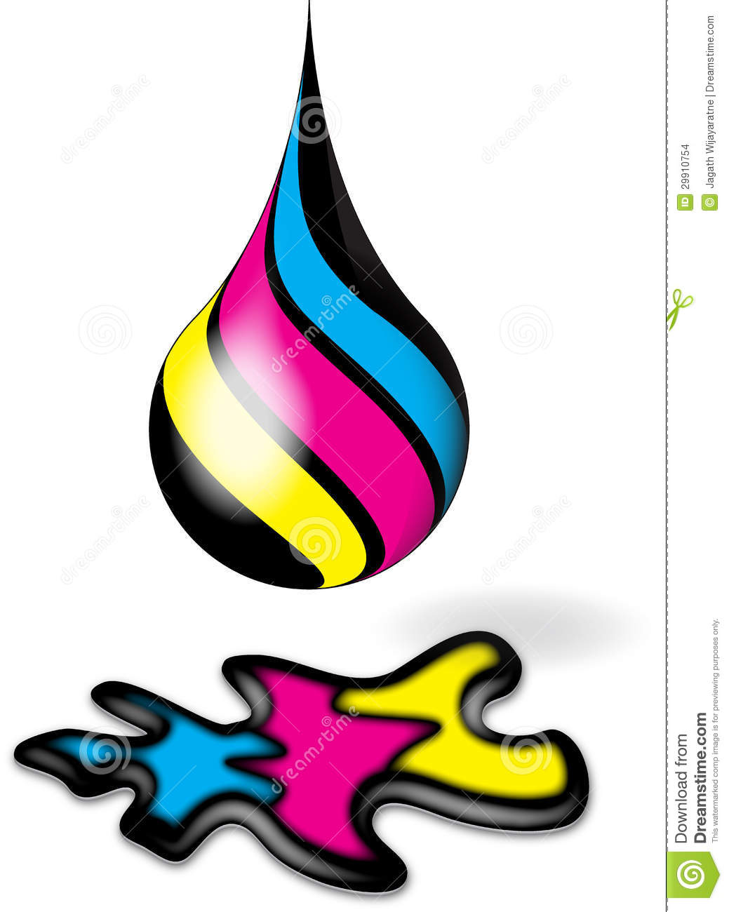 Cmyk Ink Drop And Splodge Stock Images Image 29910754