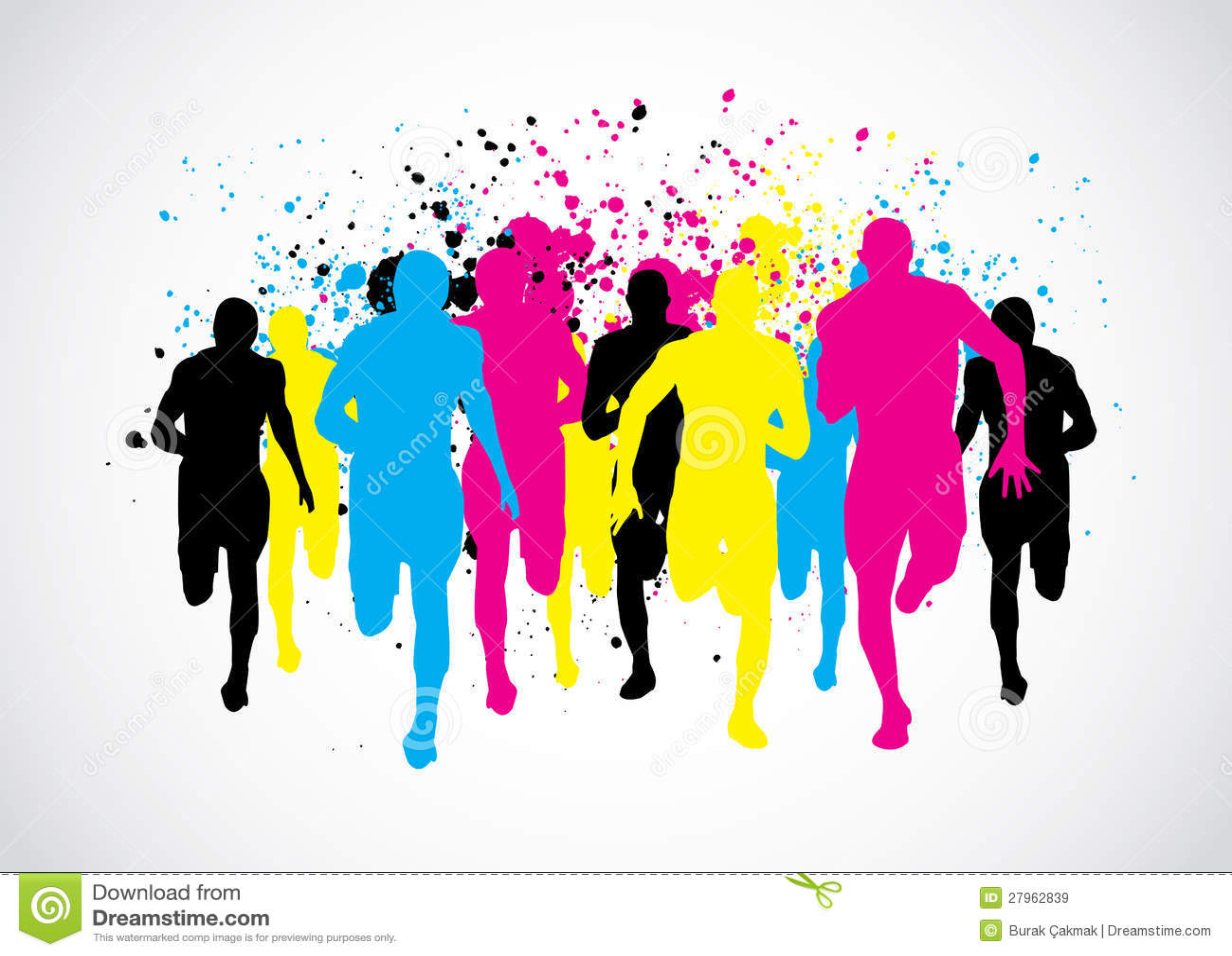 CMYK-maratonlöpare