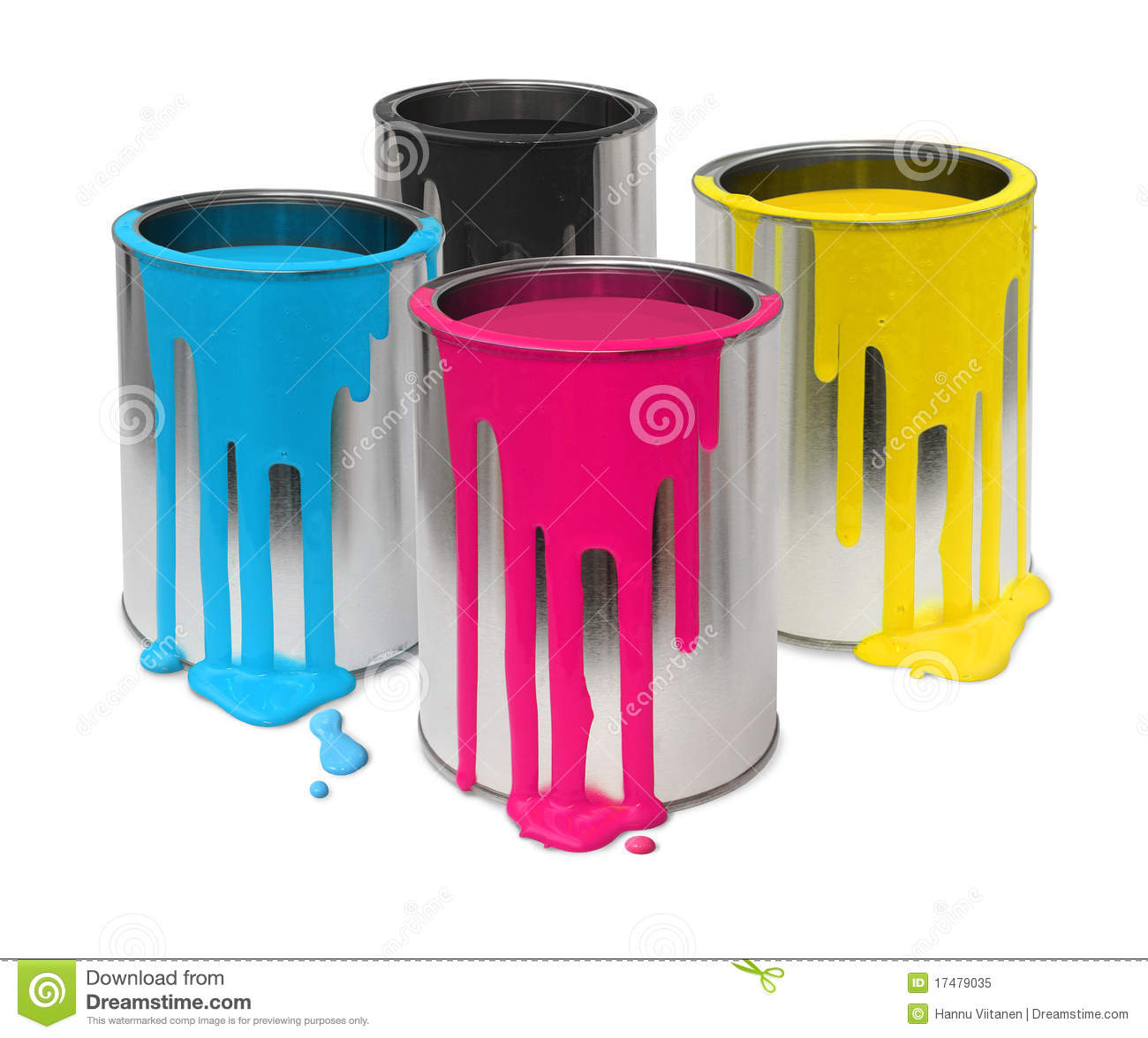 cmyk paint tin cans royalty free stock photo image 17479035