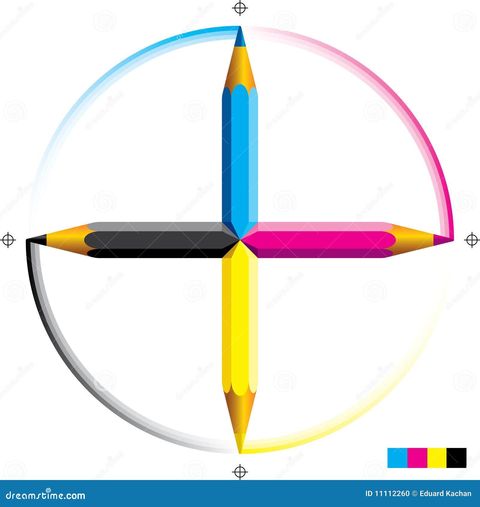 Cmyk pencils