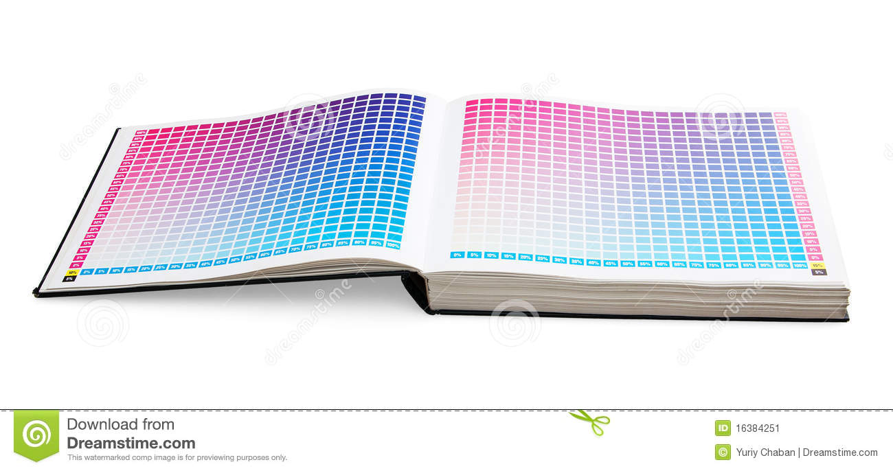 Cmyk Printing Color Guide Book Stock Image Image 16384251