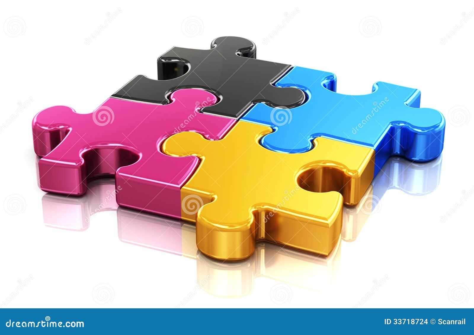 CMYK-Puzzlespiel
