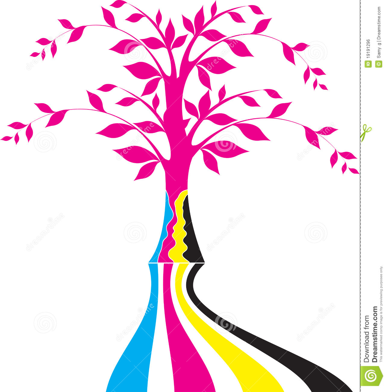Cmyk Tree Logo Stock Vector Image Of Colourful Print