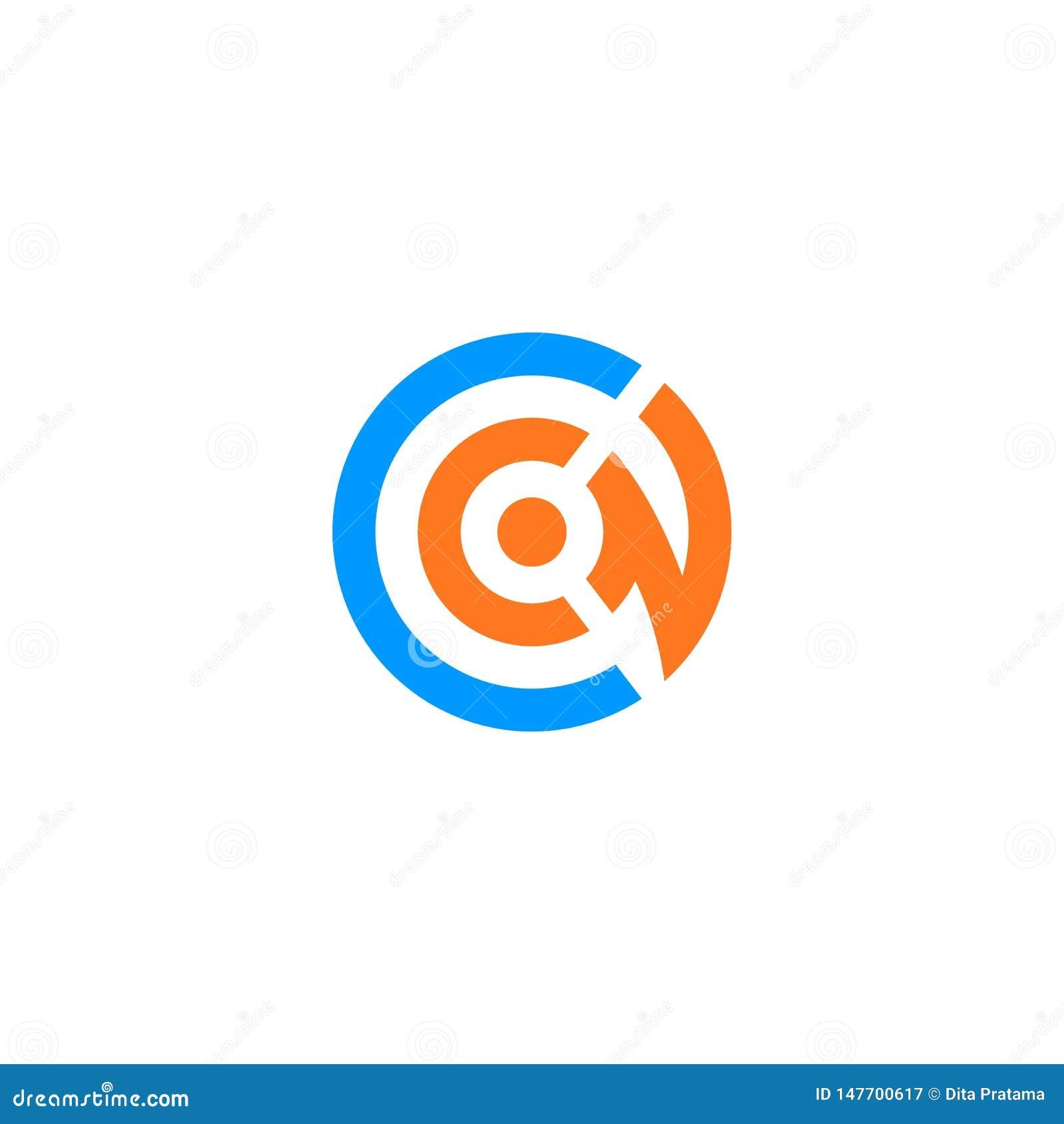 CN letter initial logo.