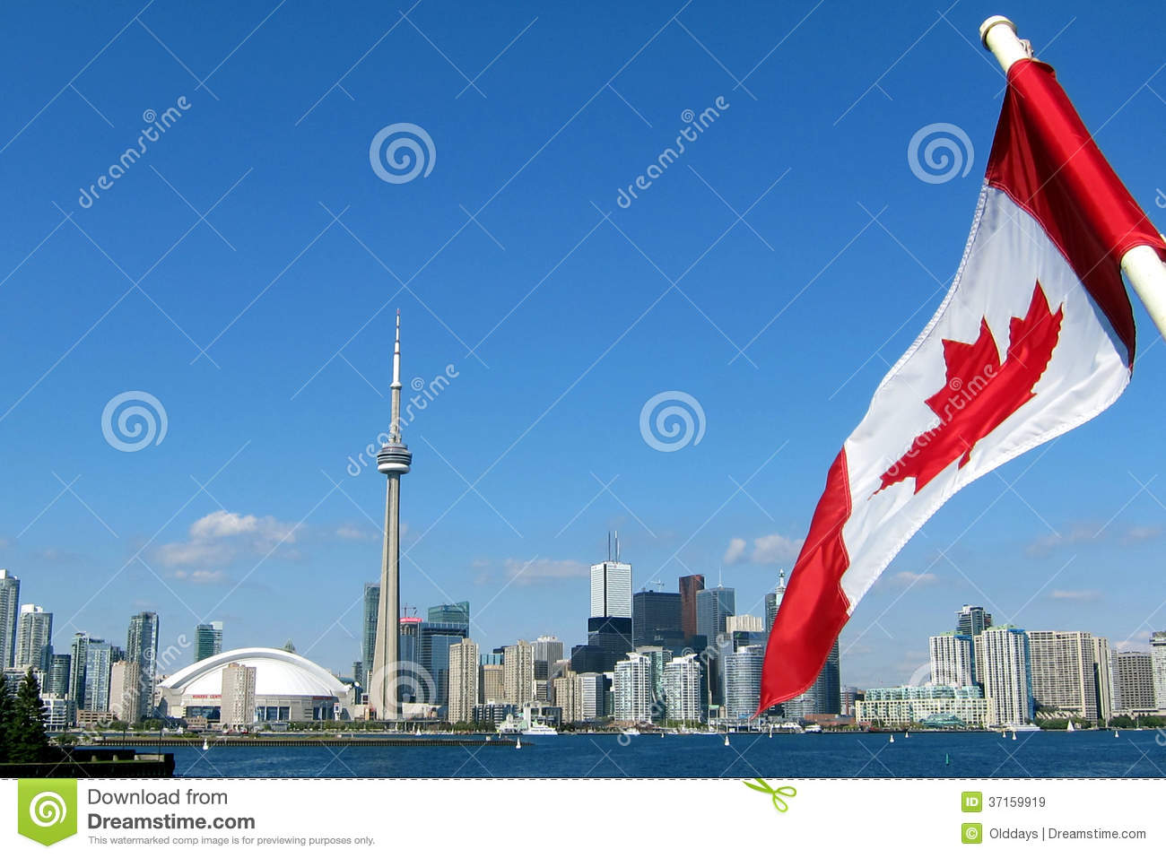 CN Tower In Toronto Royalty Free Stock Images - Image: 37159919
