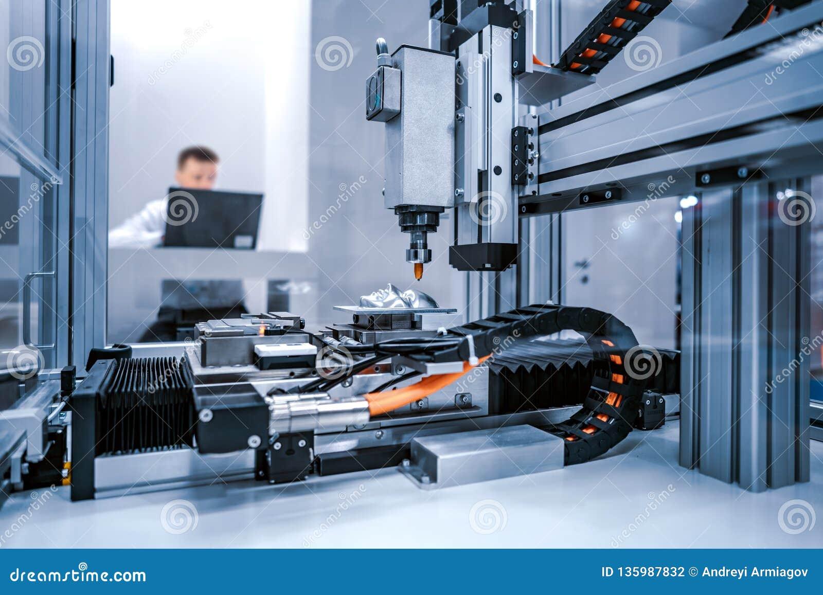 Cnc-laser-klipp av metall, modern industriell teknologi