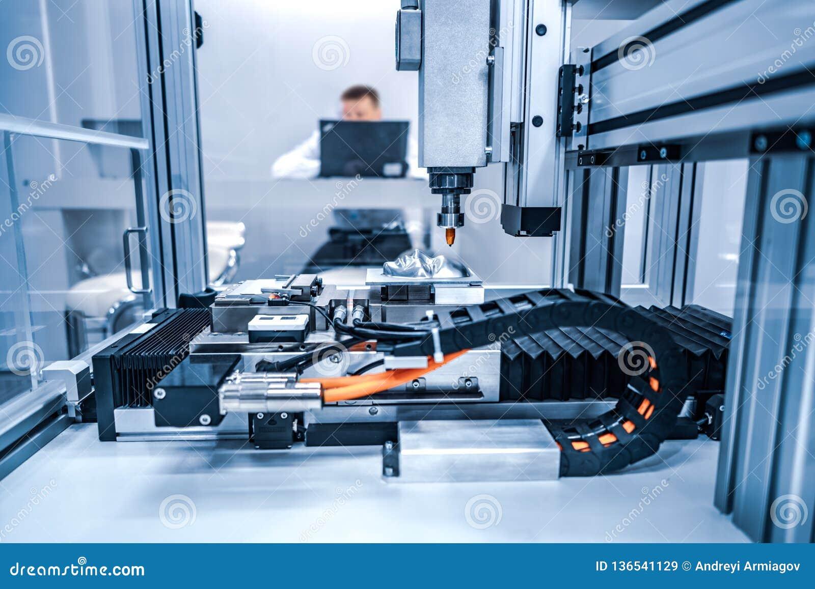 CNC Laserknipsel van metaal, moderne industriële technologie