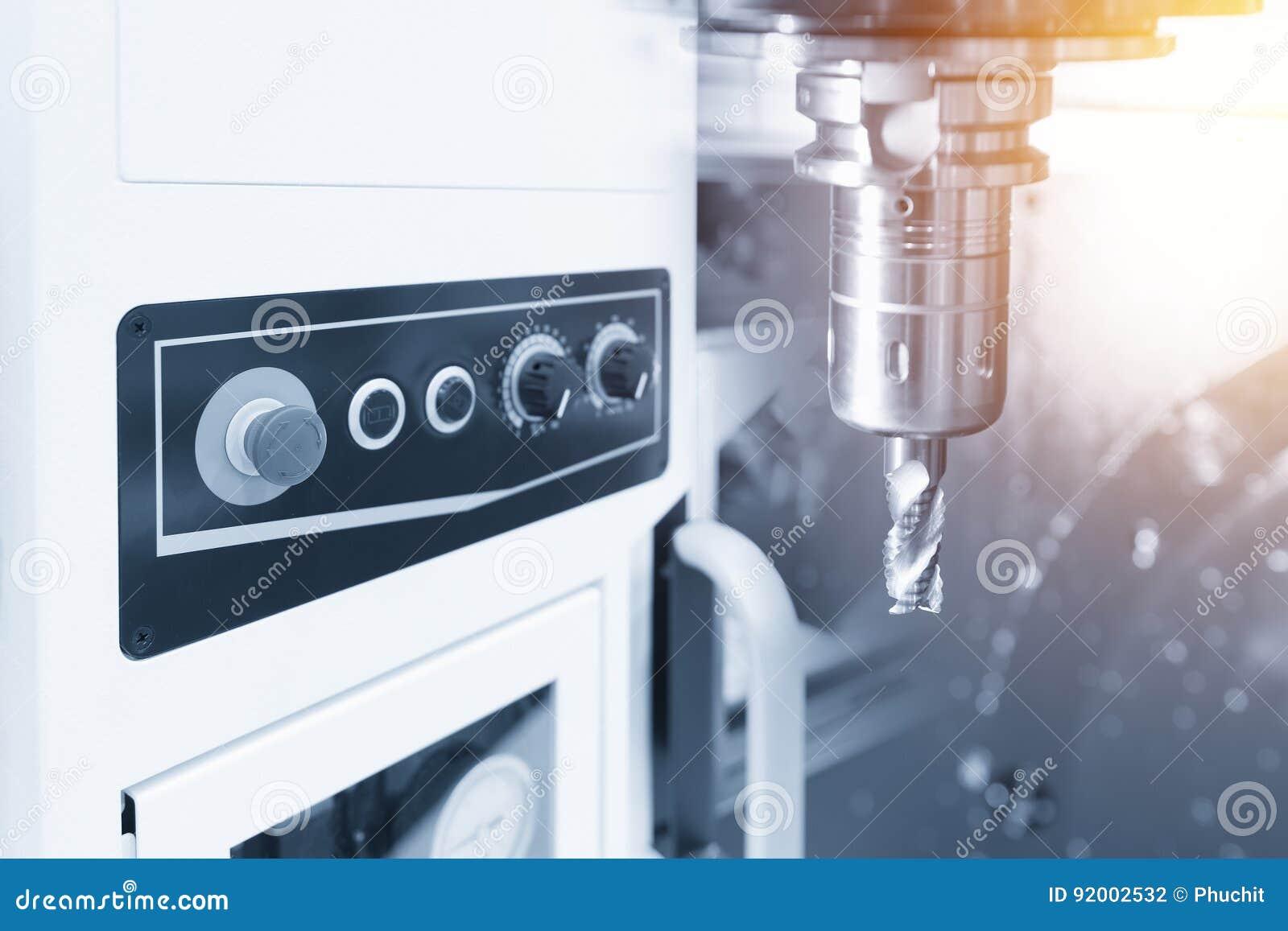 The CNC milling machine stock photo  Image of holder - 92002532