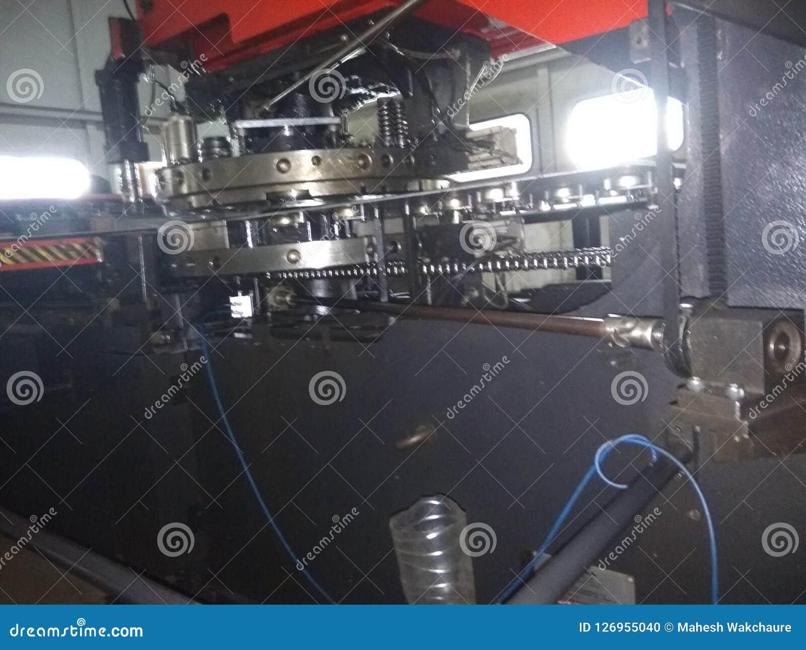 CNC Punching Machine Turret Stock Photo - Image of sheet