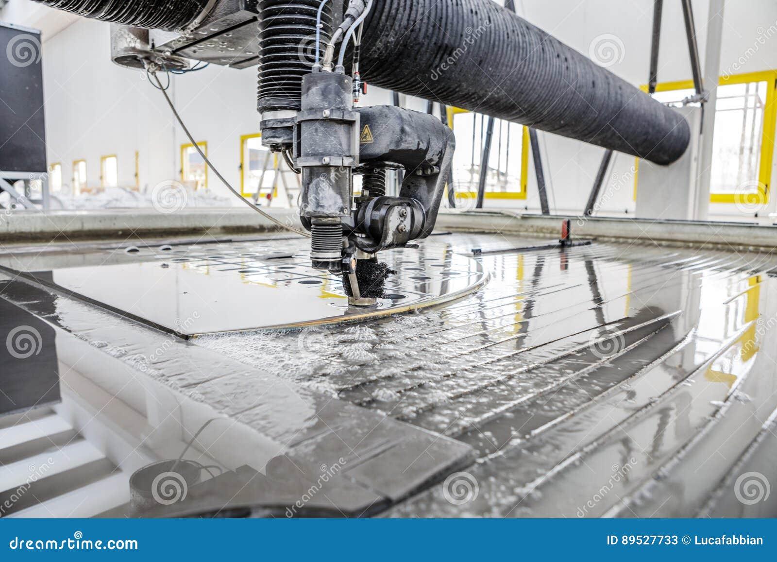 CNC Waterjet Cutting Machine Detail Stock Image - Image of cutting
