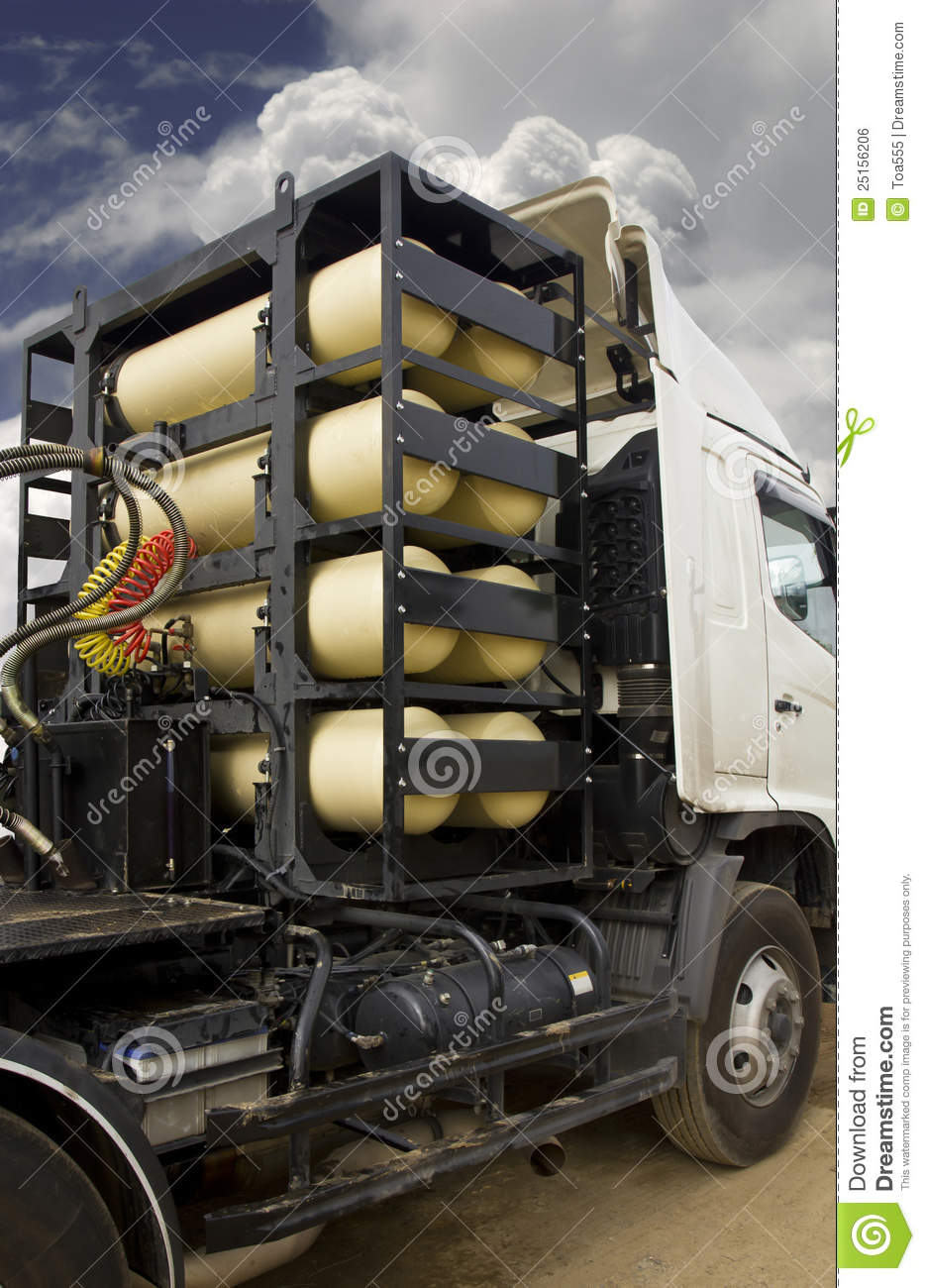 Cng  Ngv Gas Tanks For Heavy Truck Stock Photo