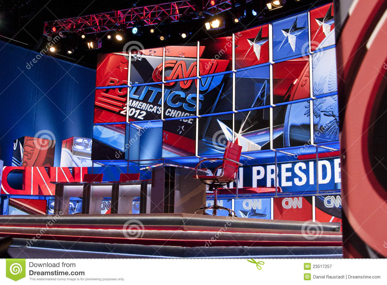 CNN Cable Television Presidential Debate Stage